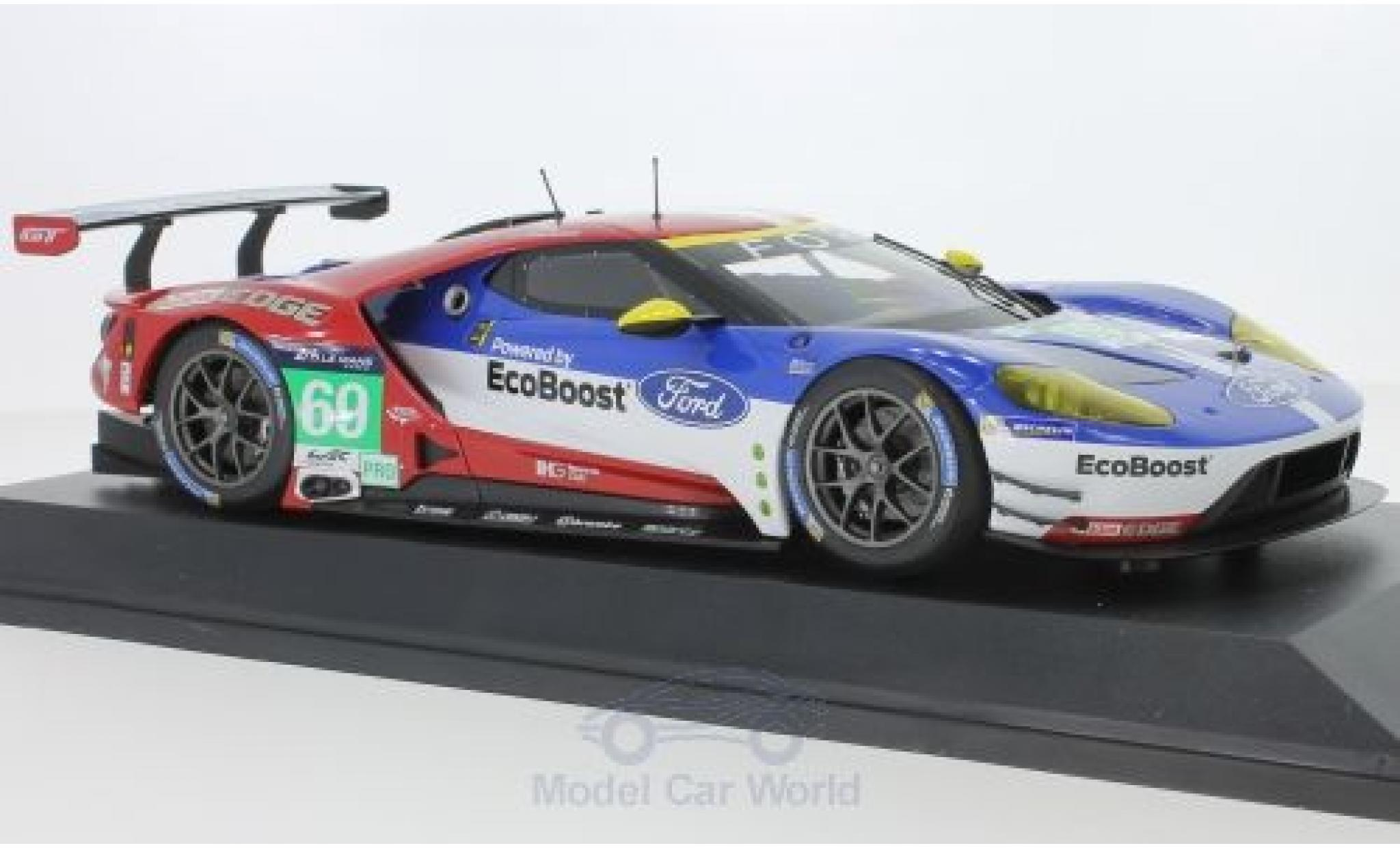 Ford GT 1/18 Minichamps No.69 Chip Ganassi Racing USA 24h Le Mans 2016 R.Briscoe/R.Westbrook/S.Dixon