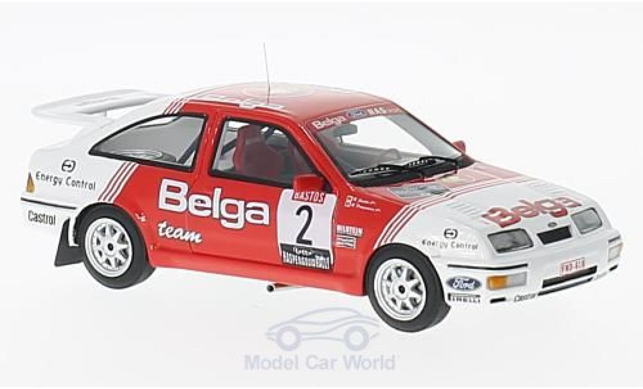 Ford Sierra Cosworth 1/43 Minichamps  Cosworth No.2 Belga Haspengouwrally 1987 R.Droogmans/R.Joosten