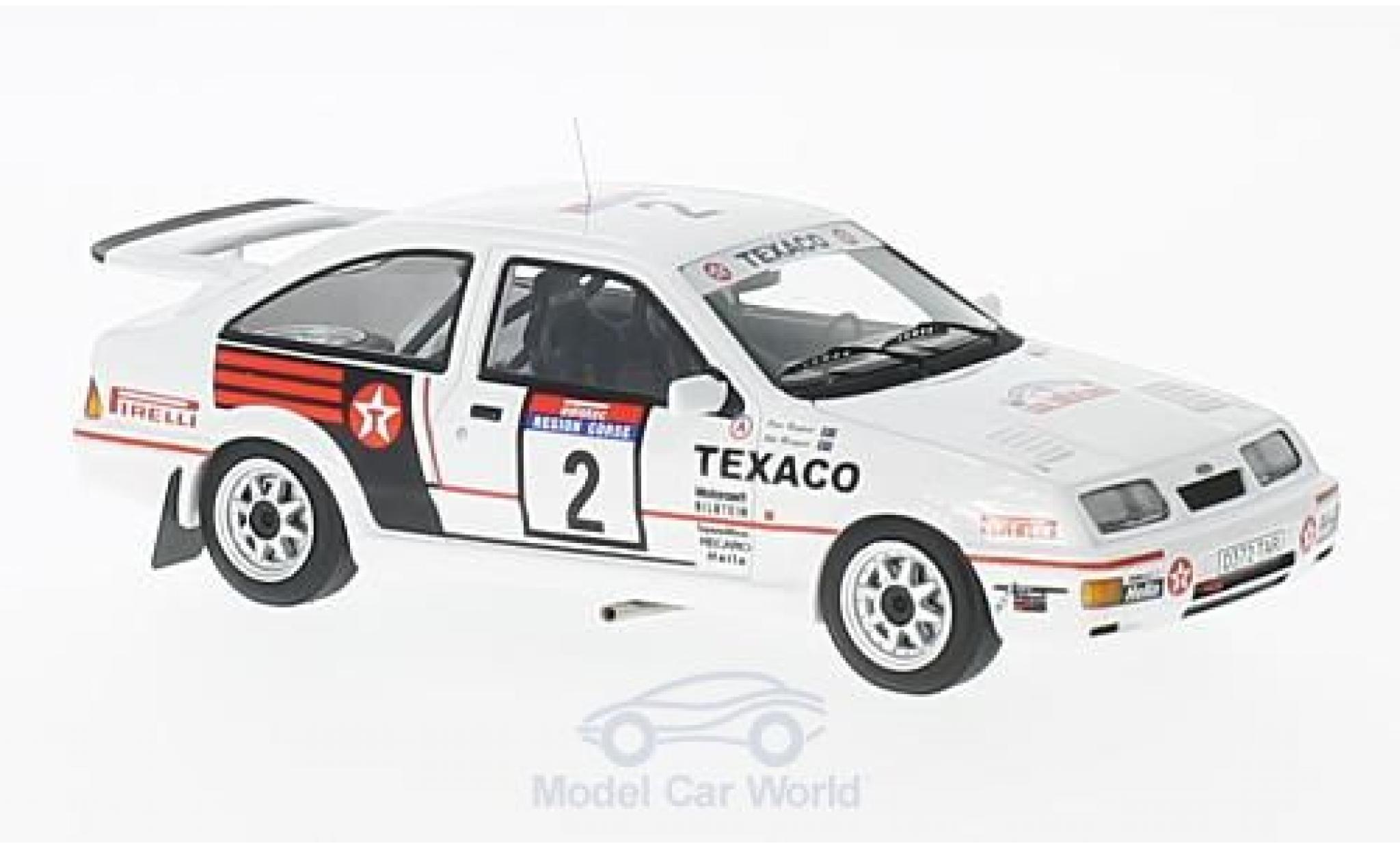 Ford Sierra Cosworth 1/43 Minichamps  Cosworth No.2 Texaco Tour de Corse 1987 S.Blomqvist/K.Grundel
