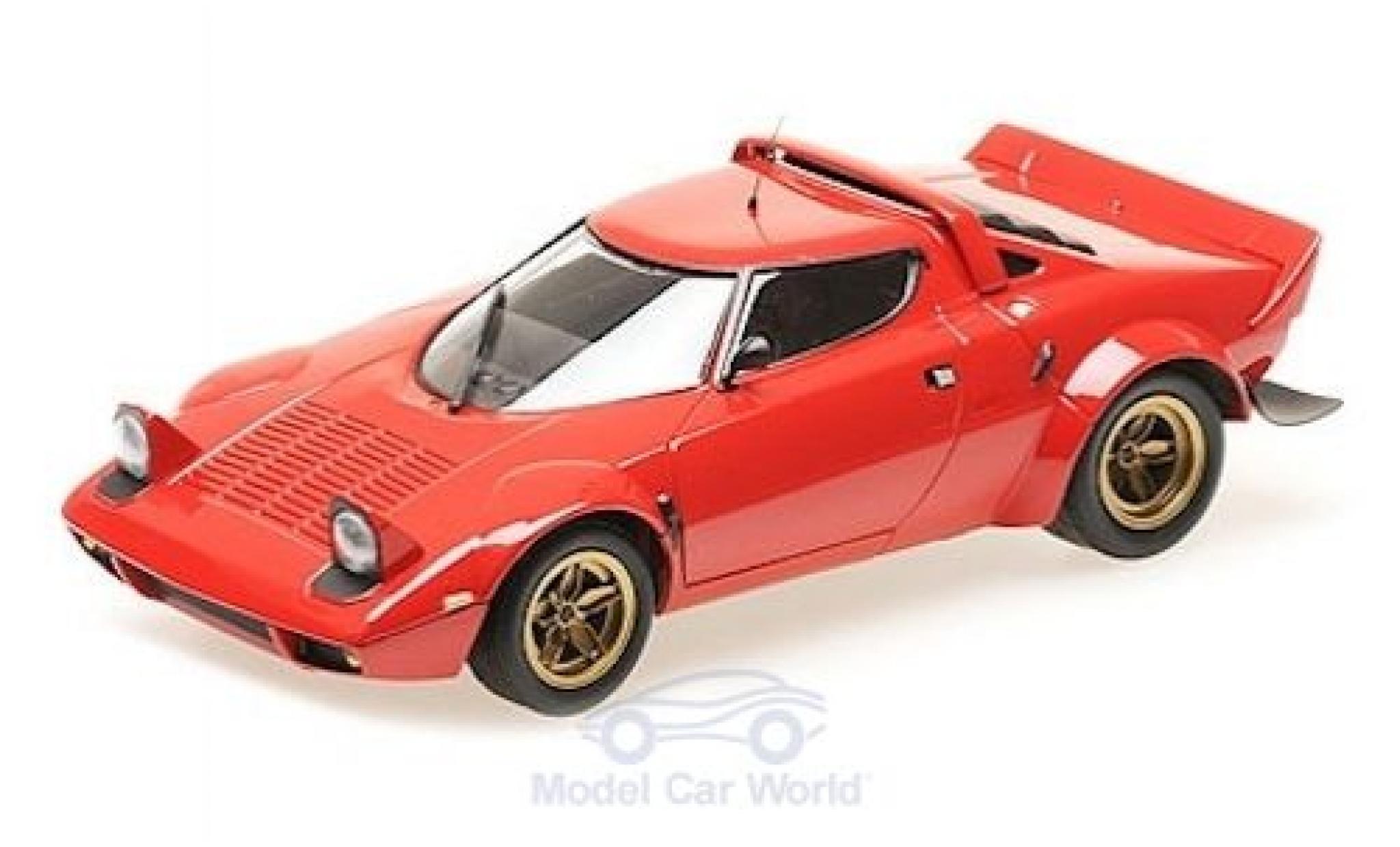 Lancia Stratos 1/18 Minichamps rouge 1974