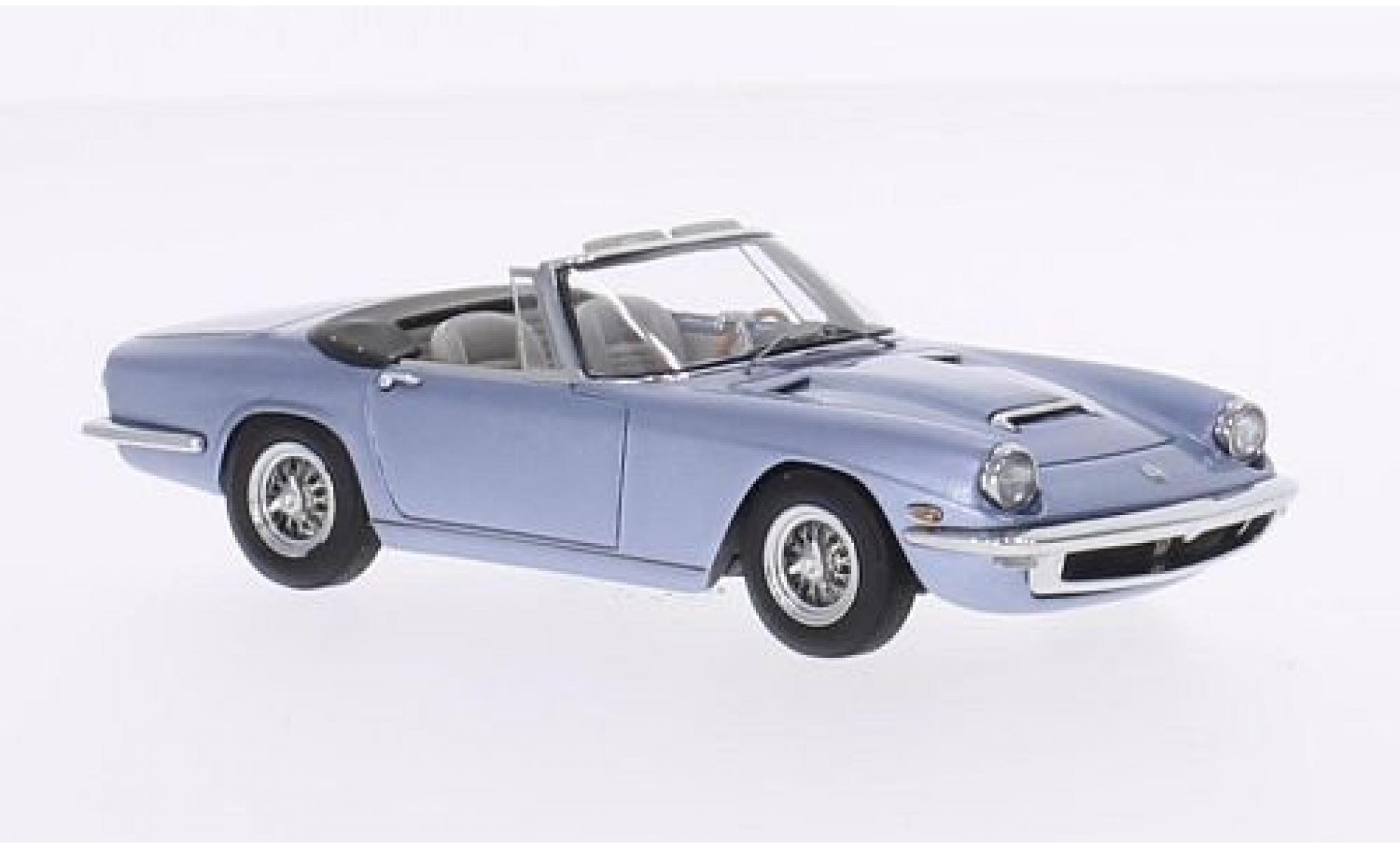 Maserati Mistral 1/43 Minichamps Spyder metallise bleue 1964