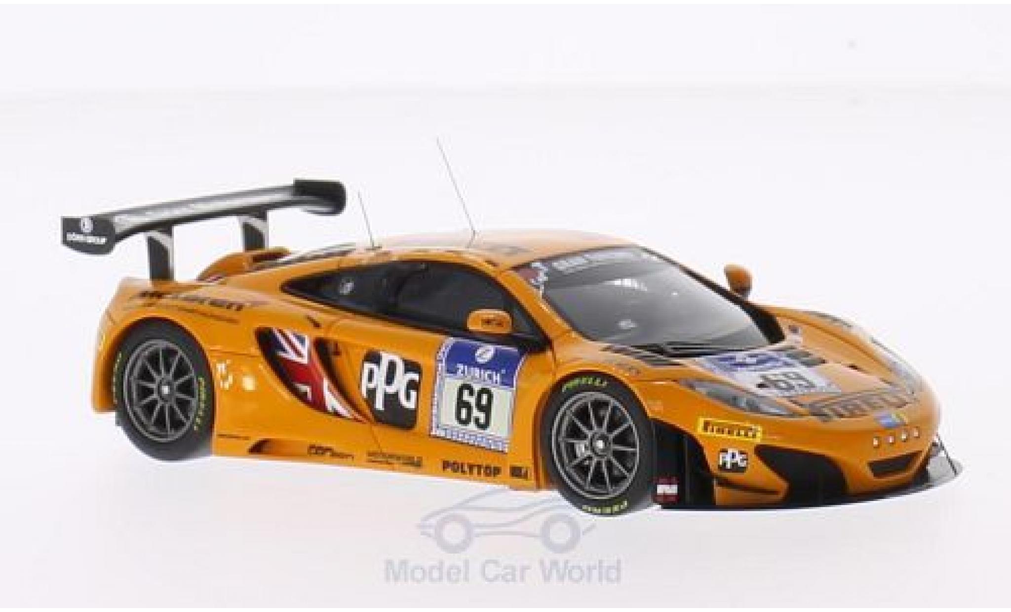 McLaren MP4-12C 1/43 Minichamps 12C GT3 No.69 Doerr Motorsport Pirelli 24h Nürburgring 2014 R.Adams/S.Asch/A.Klasen/A.Parente