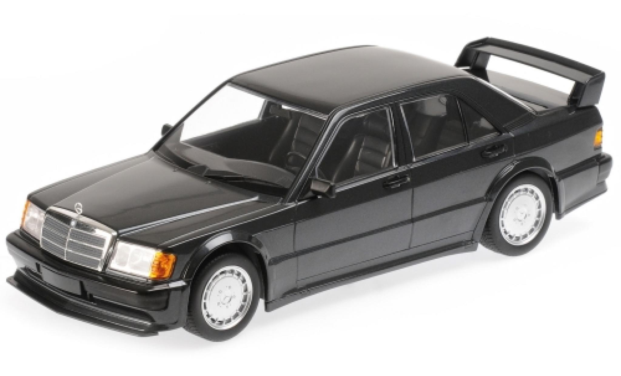 Mercedes 190 1/18 Minichamps E 2.5-16 Evo1 metallise noire 1989