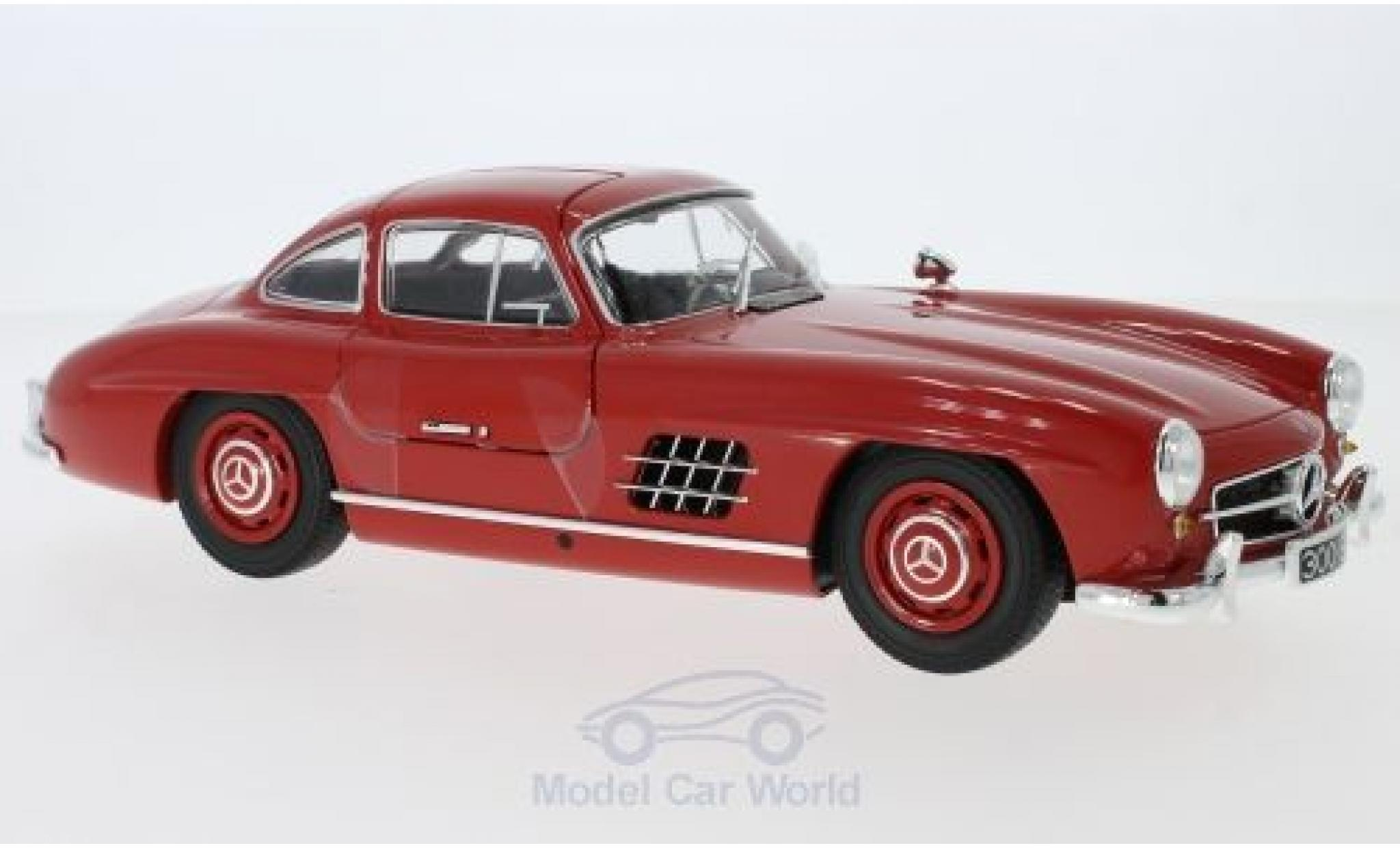 Mercedes 300 SL 1/18 Minichamps SL (W198) rouge 1955
