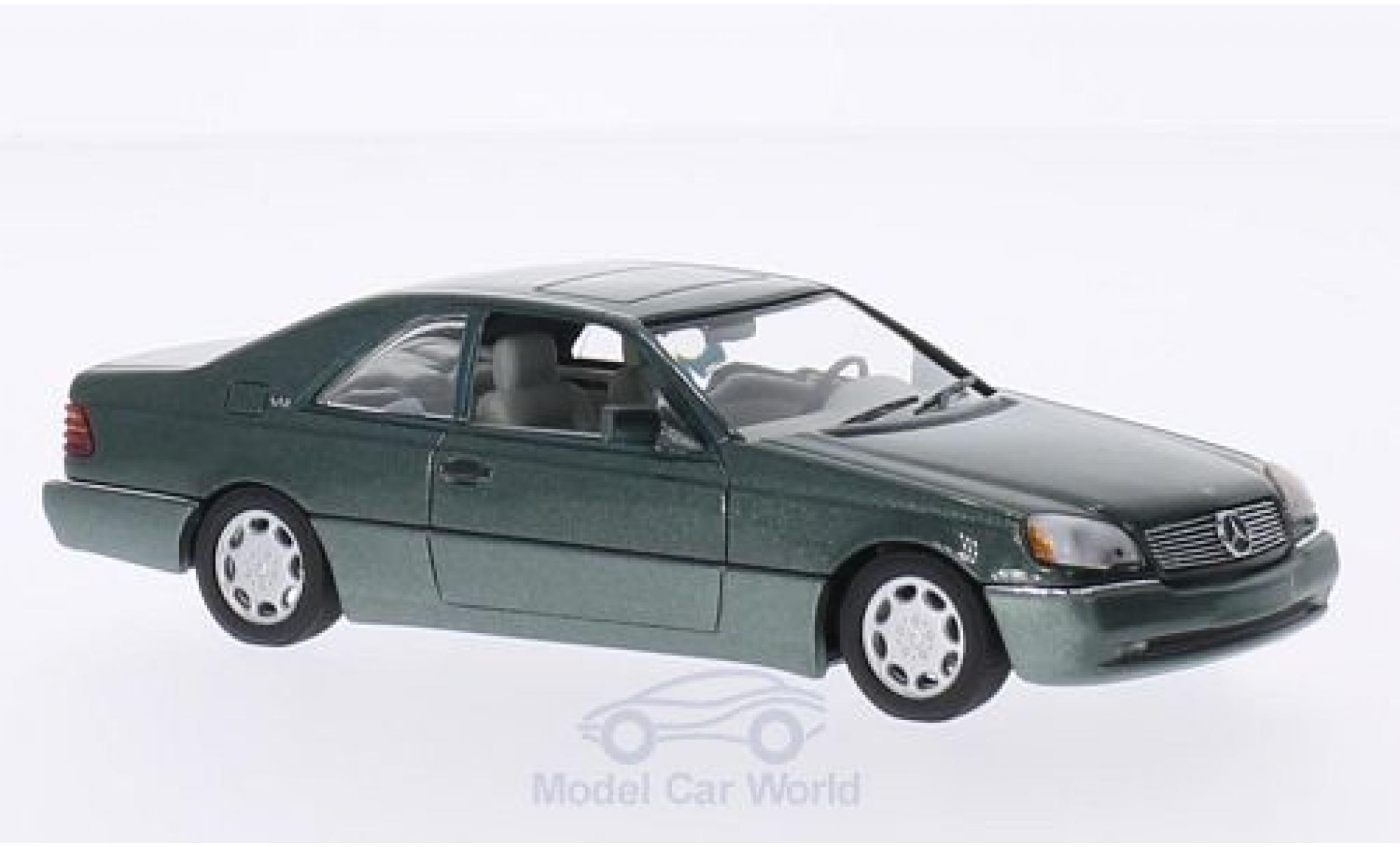 Mercedes 600 1/43 Minichamps SEC Coupe (C140) metallise verte 1992