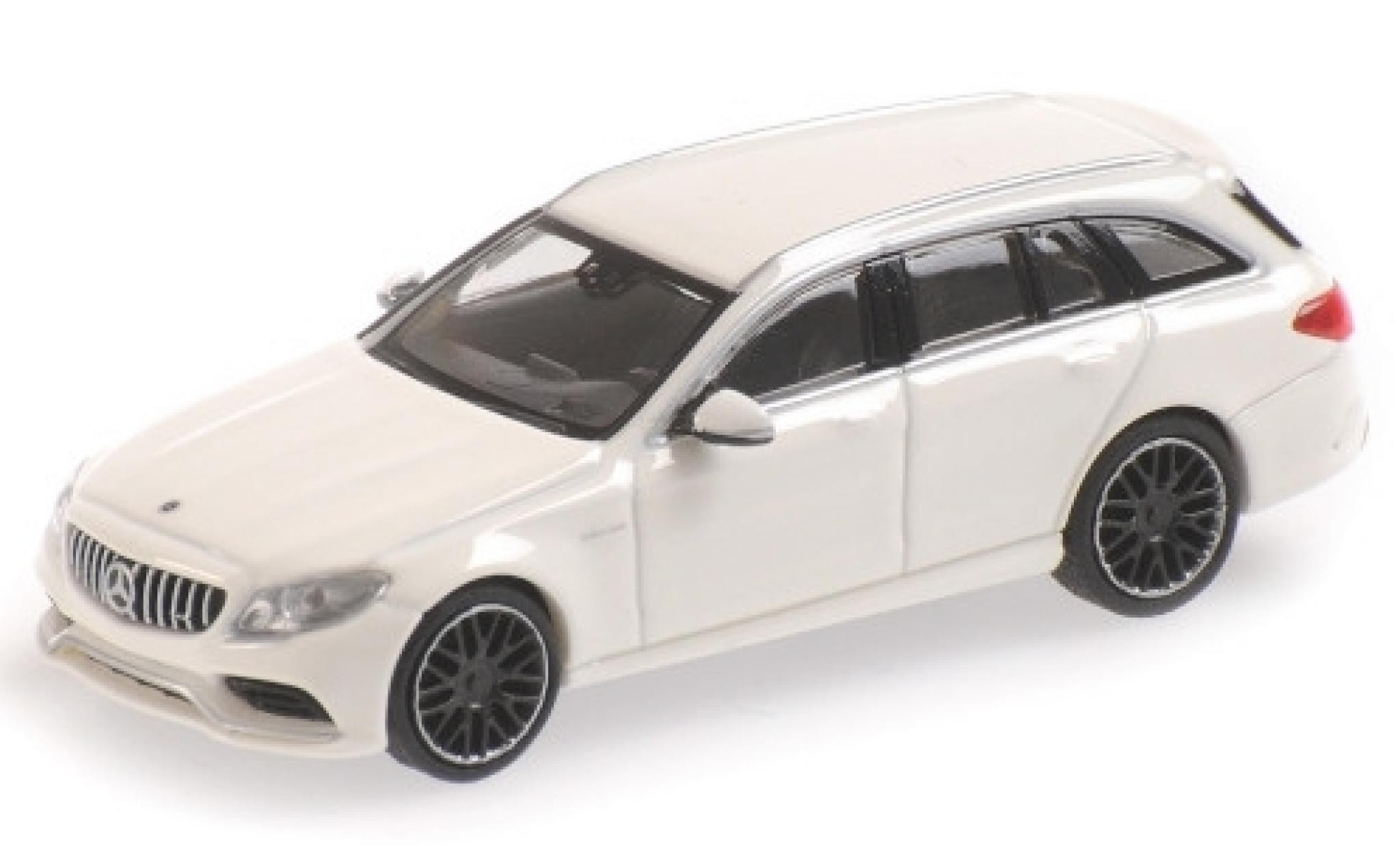 Mercedes Classe C 1/87 Minichamps AMG C63 T-Modell (S205) blanche 2019