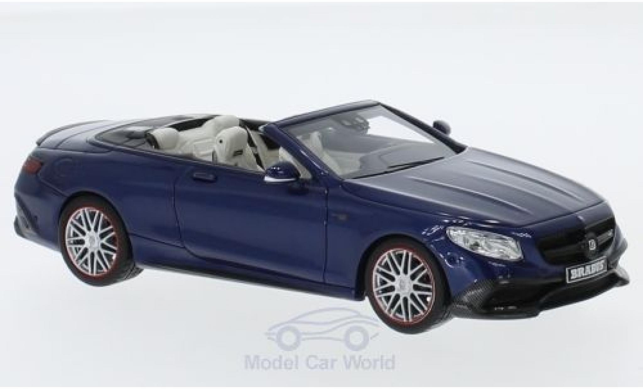 Mercedes Classe S 1/43 Minichamps Brabus 850 metallise bleue 2016 Basis AMG S 63 Cabriolet