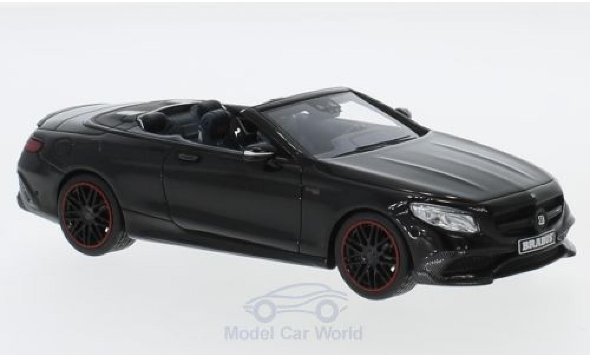 Mercedes Classe S 1/43 Minichamps Brabus 850 noire 2016 Basis AMG S 63 Cabriolet