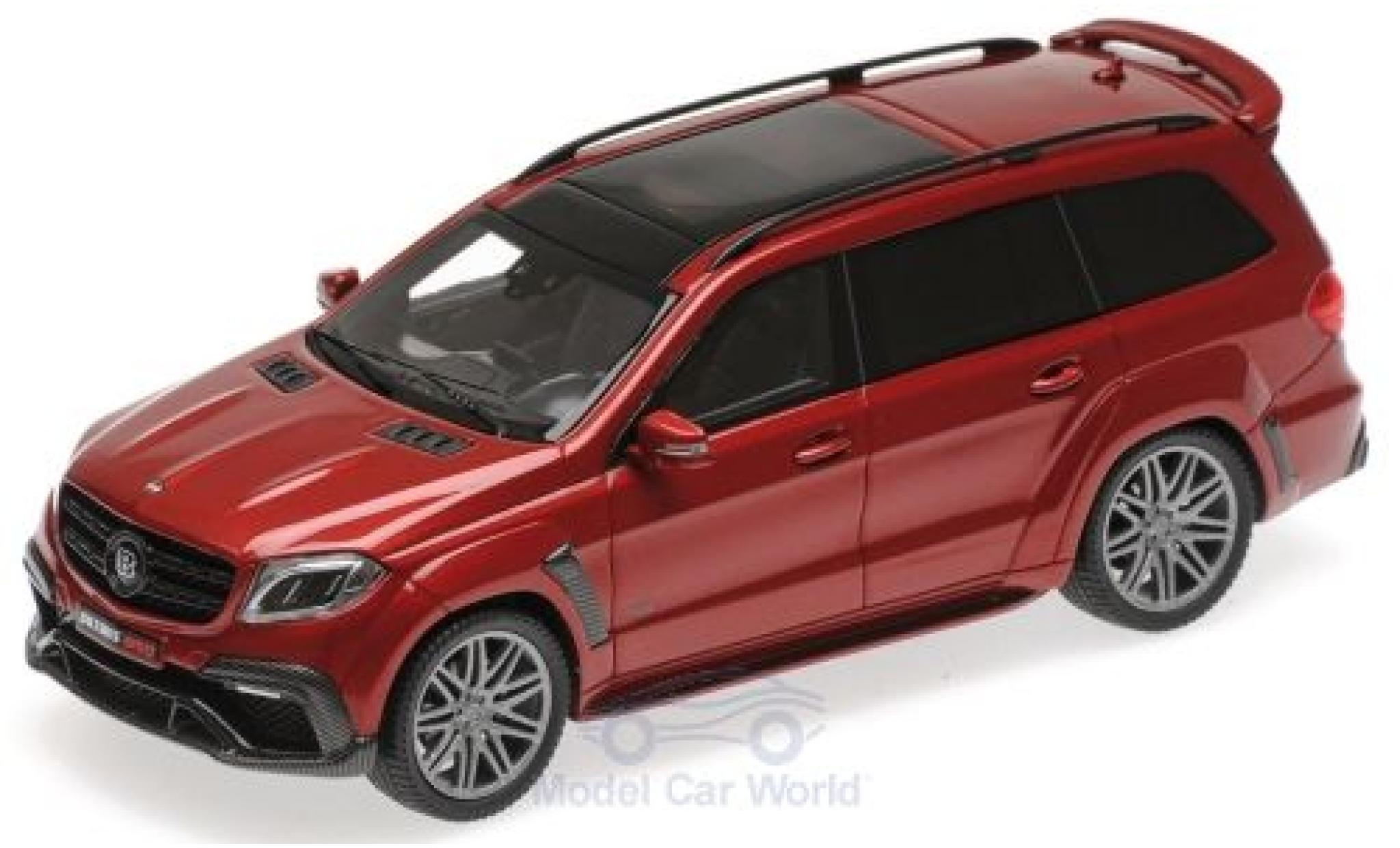 Mercedes Classe S 1/43 Minichamps Brabus 850 Widestar XL métallisé rouge 2017 Basis AMG GLS 63