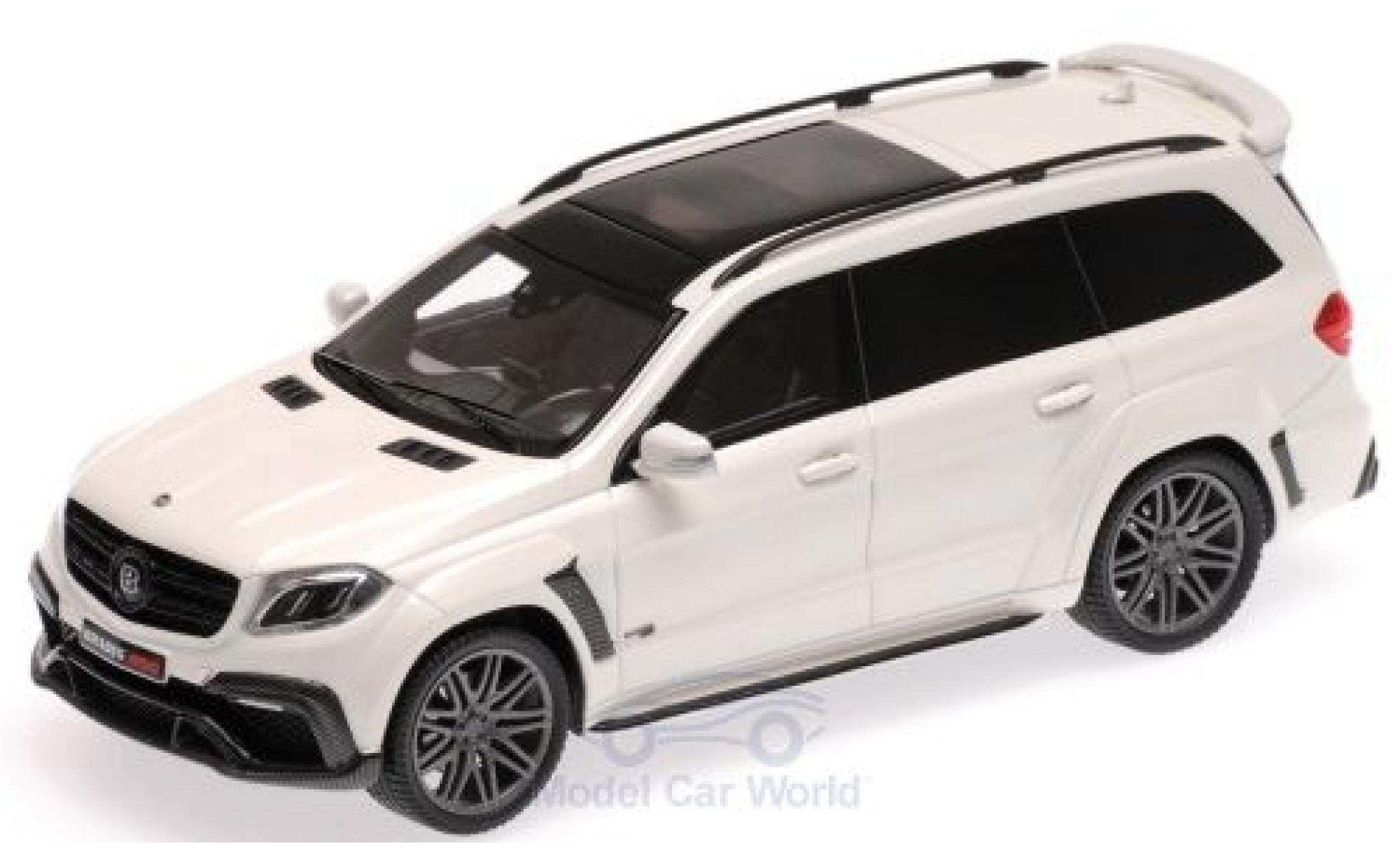Mercedes Classe S 1/43 Minichamps Brabus 850 Widestar XL metallise blanche 2017 Basis AMG GLS 63
