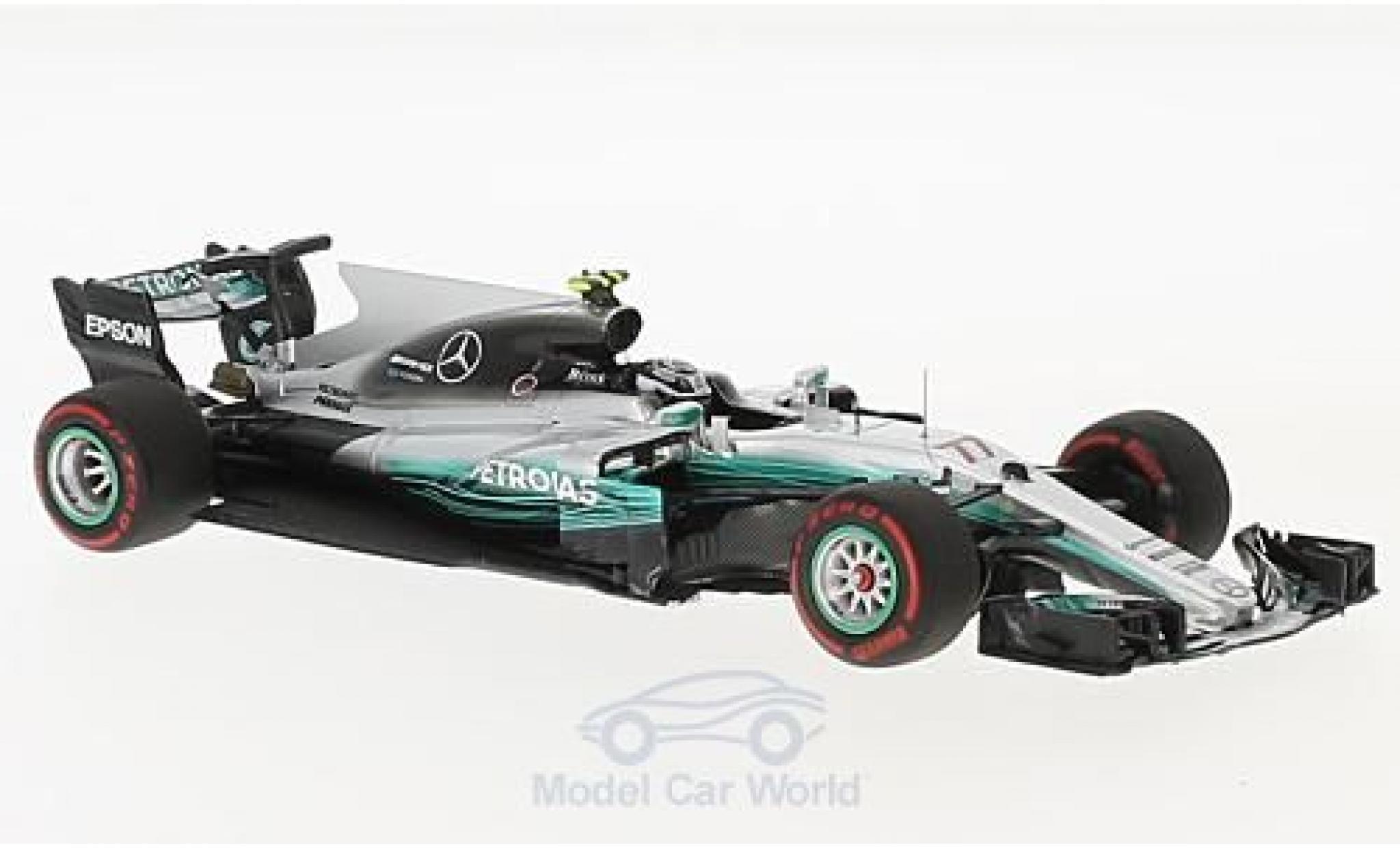 Mercedes F1 1/43 Minichamps W08 EQ Power No.77 AMG Petronas Motorsport Formel 1 GP Russland 2017 V.Bottas