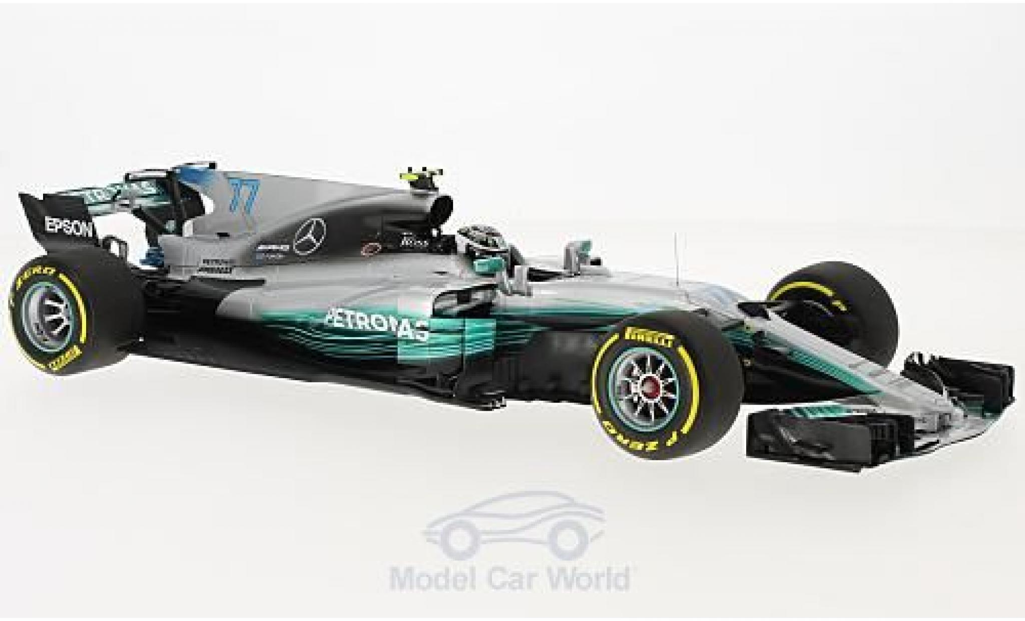 Mercedes F1 1/43 Minichamps W08 EQ Power+ No.77 AMG Petronas Motorsport Petronas Formel 1 GP Spanien 2017 V.Bottas