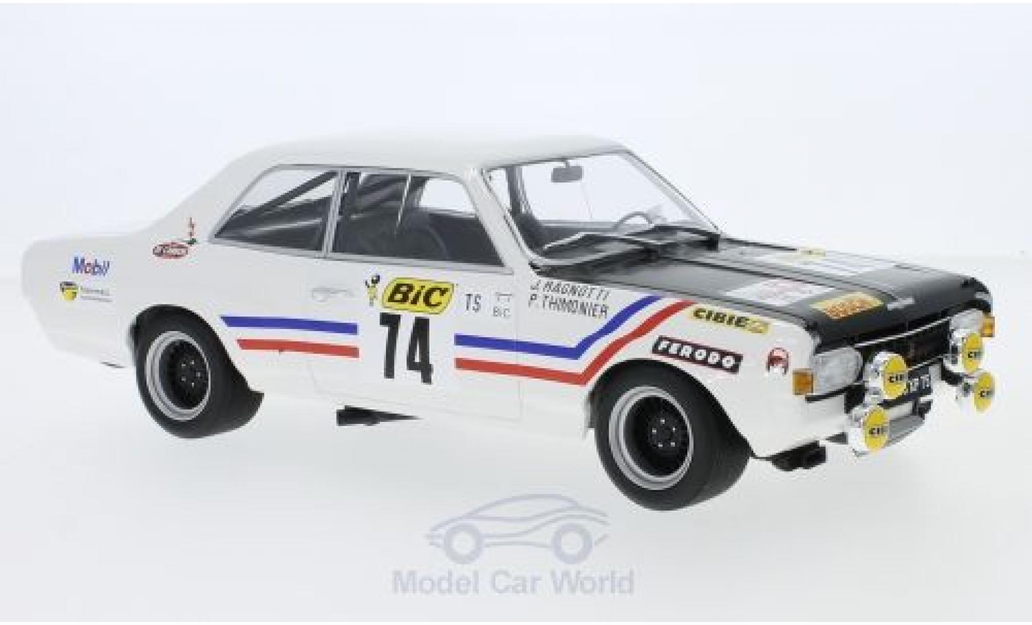 Opel Commodore C 1/18 Minichamps A Steinmetz No.74 Tour de France Auto 1971 J.Ragnotti/P.Thimonier