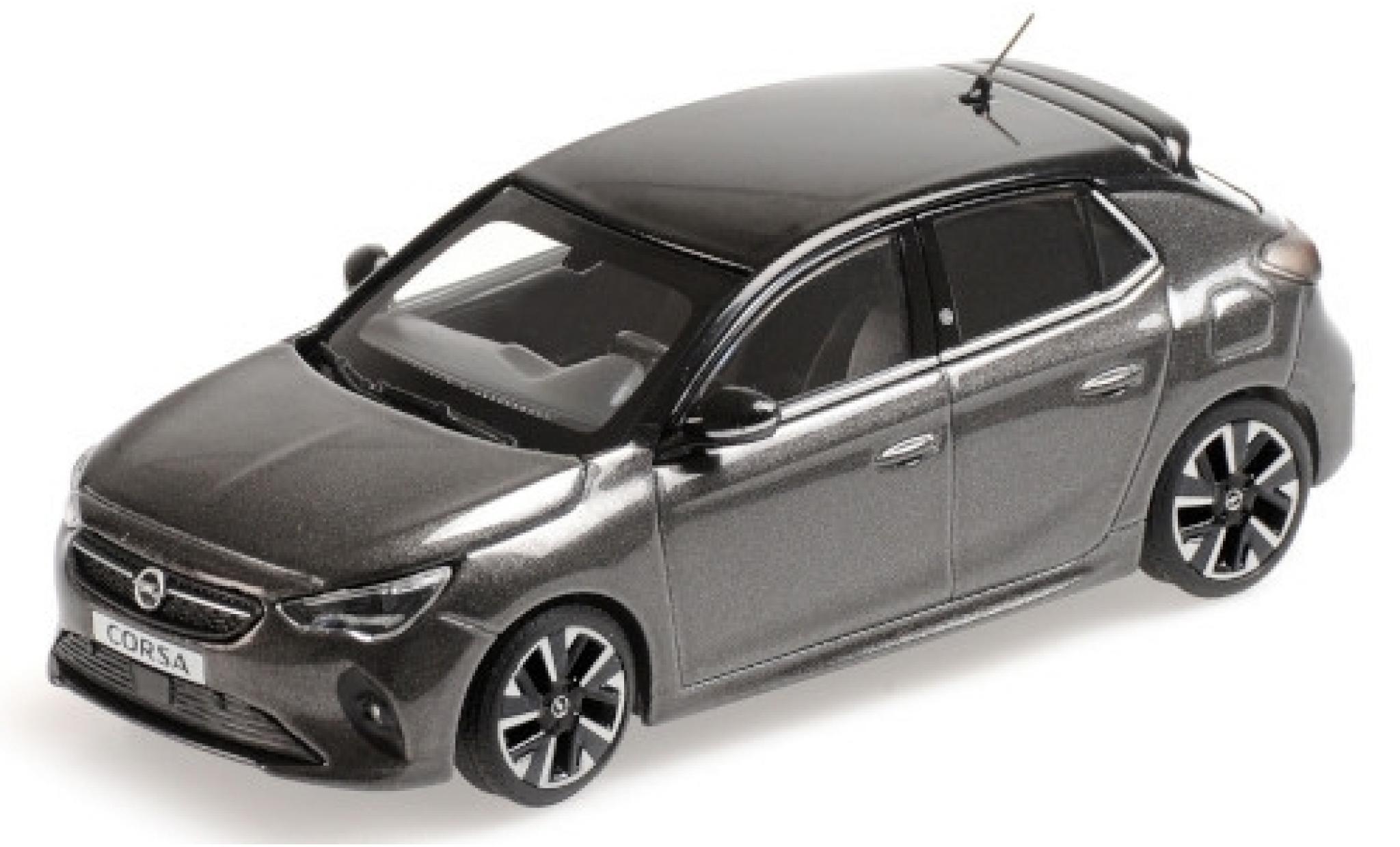 Opel Corsa 1/43 Minichamps E metallise grise/noire 2019