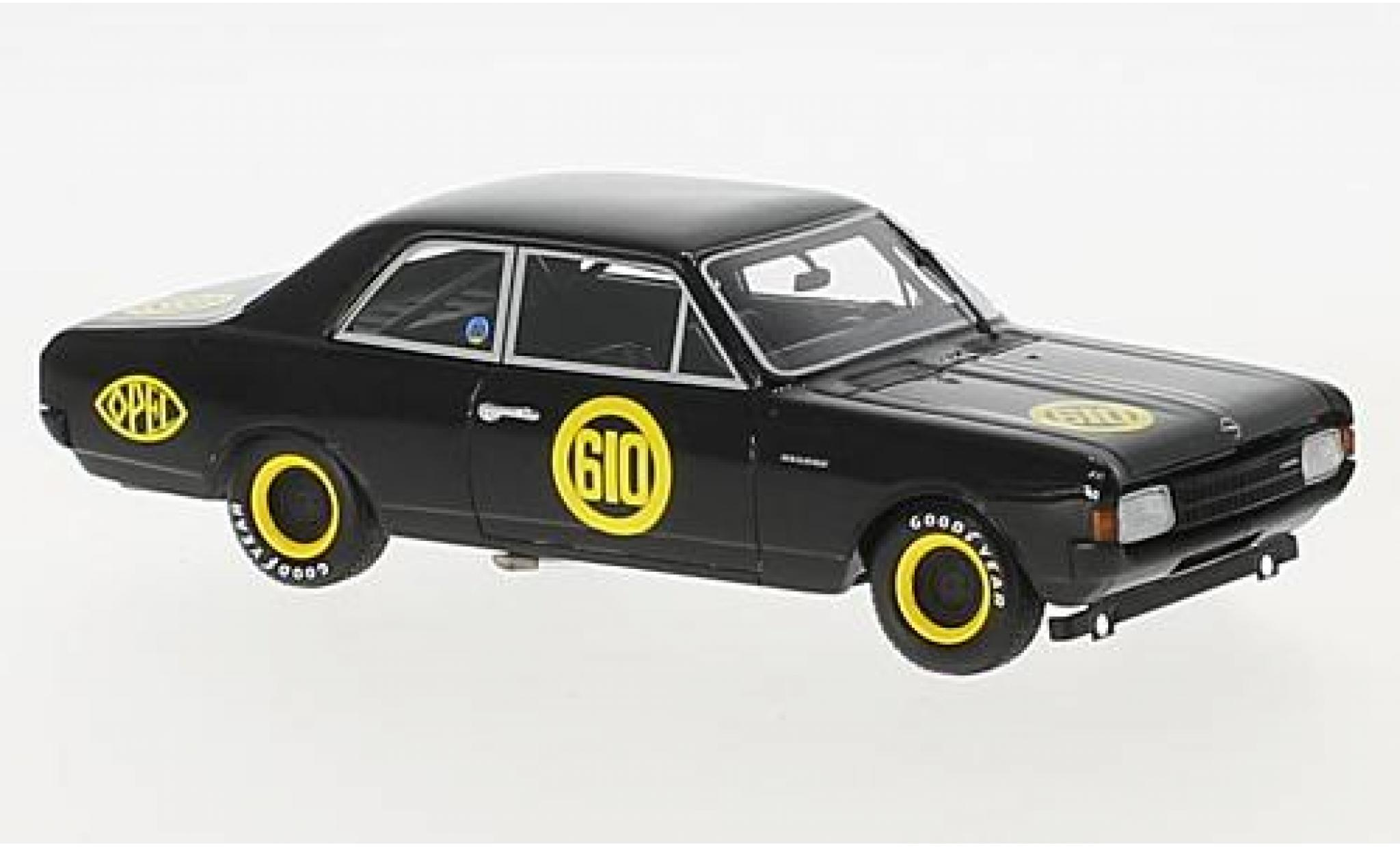 Opel Rekord 1/43 Minichamps 1900 No.610 Hockenheim 1968 Schwarze Witwe E.Bitter