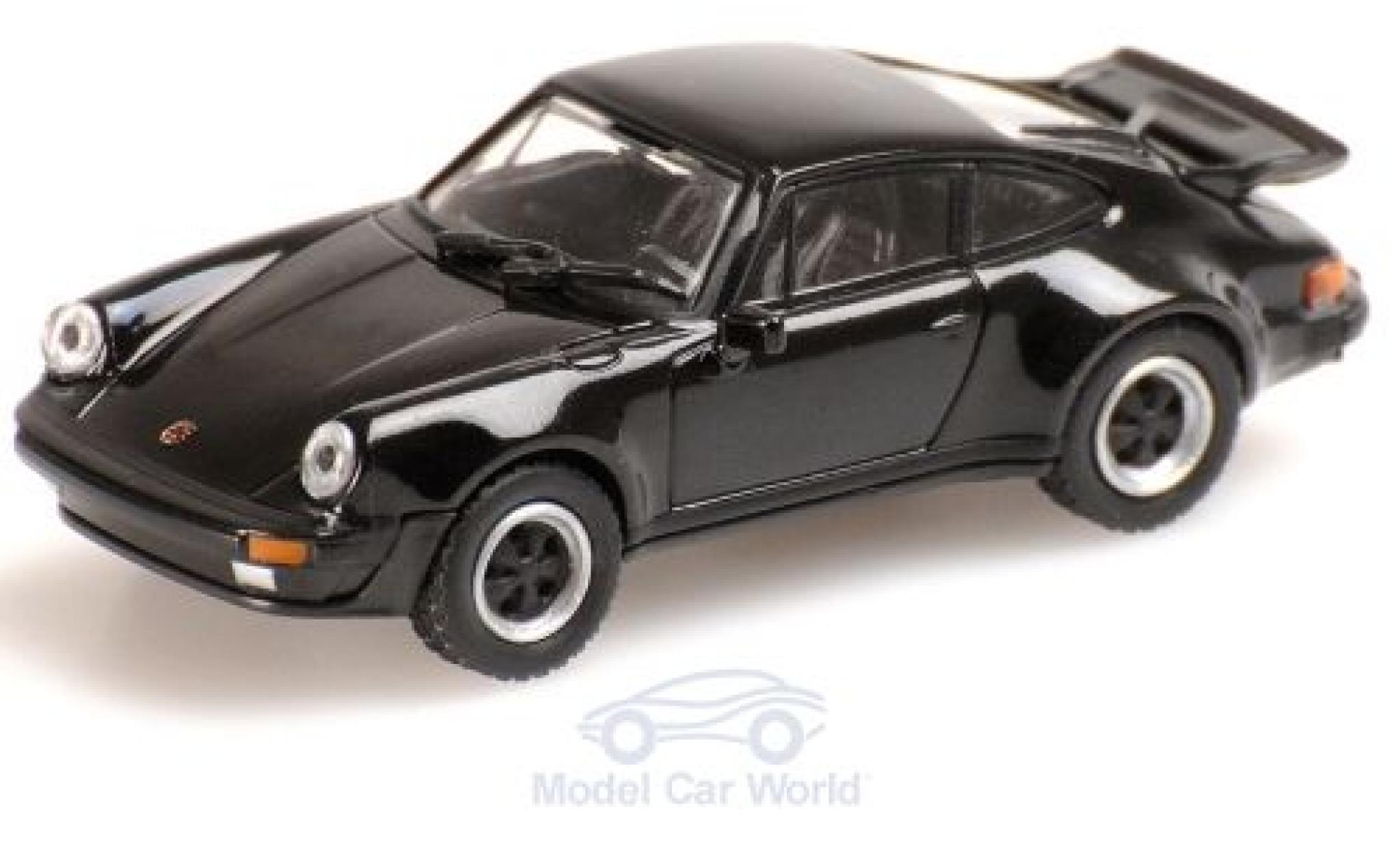 Porsche 930 Turbo 1/87 Minichamps 911  noire 1977