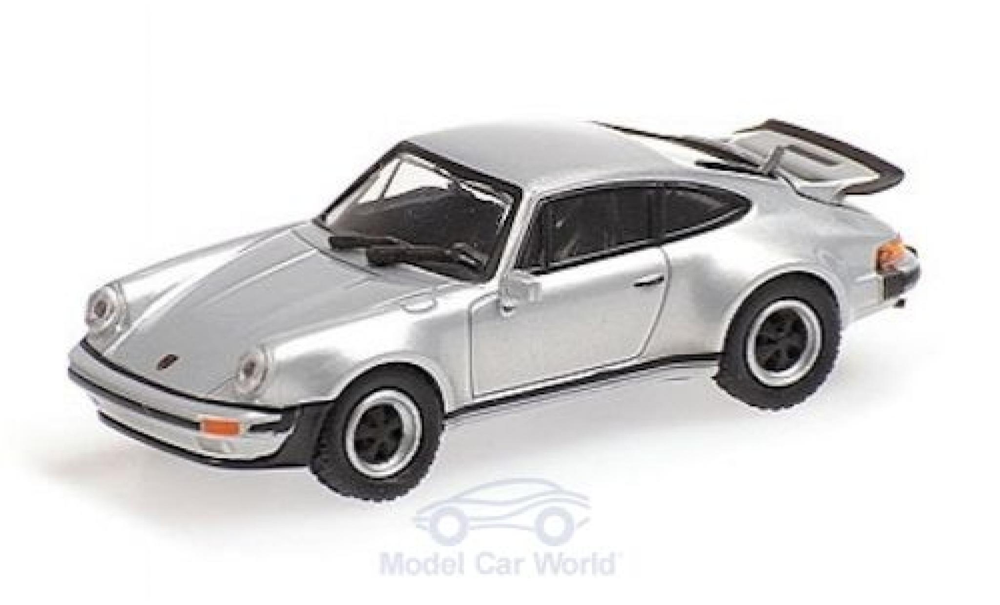 Porsche 911 1/87 Minichamps (930) Turbo grise 1977