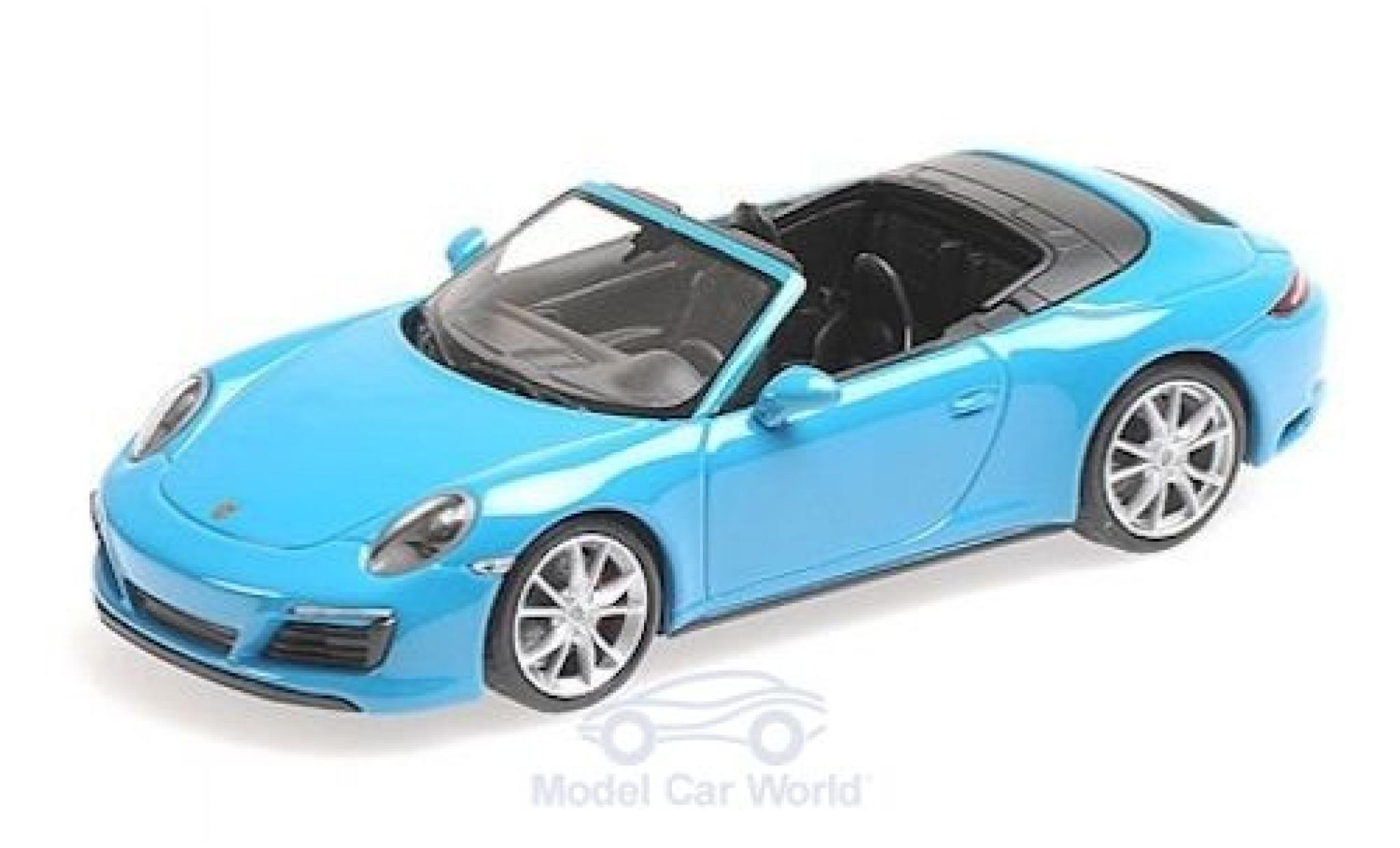 Porsche 911 1/43 Minichamps (991.2) Carrera 4 Cabriolet azul 2016