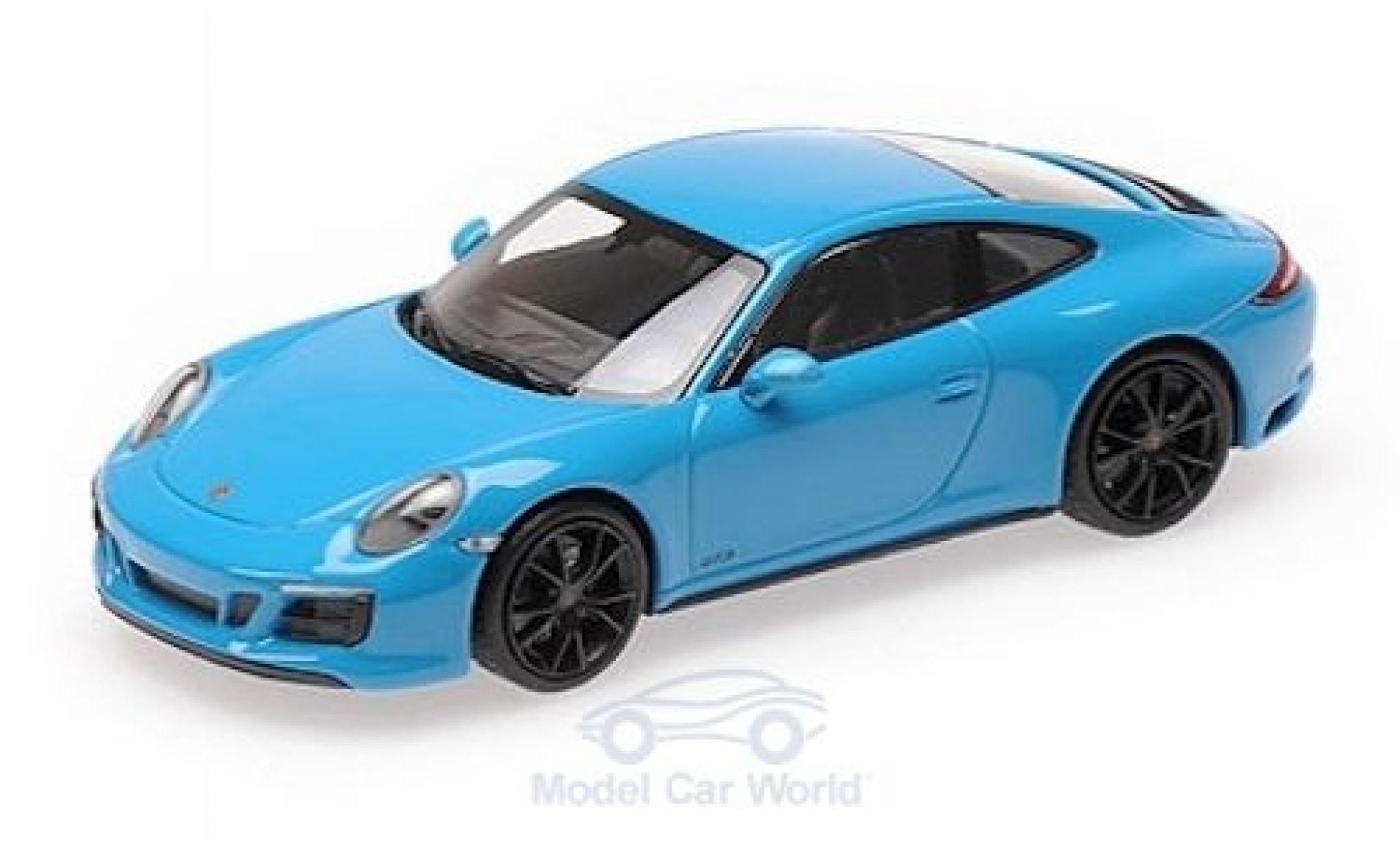 Porsche 991 GTS 1/43 Minichamps 911 (.2) Carrera 4 blue 2017