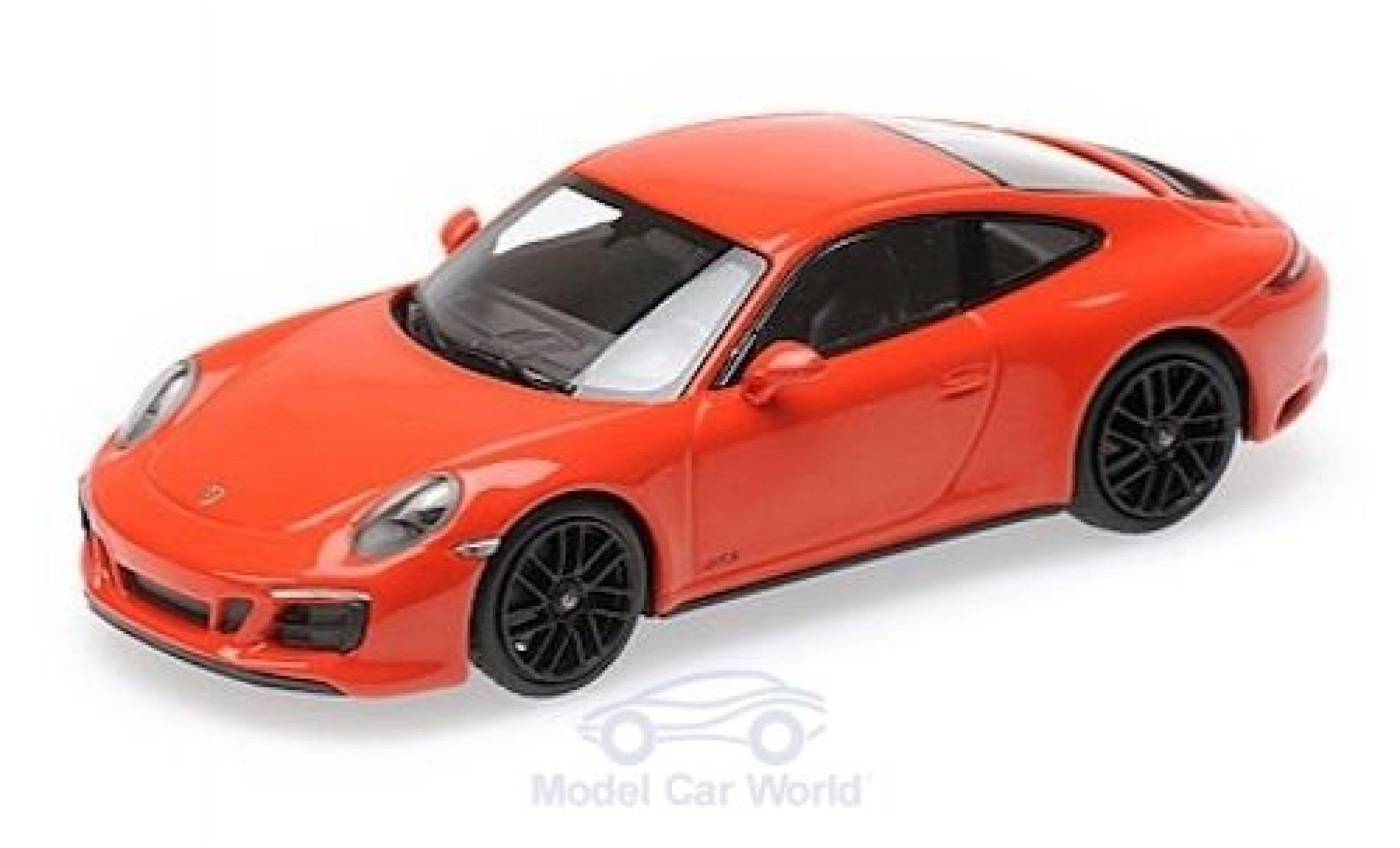 Porsche 911 1/43 Minichamps (991.2) Carrera 4 GTS orange 2017