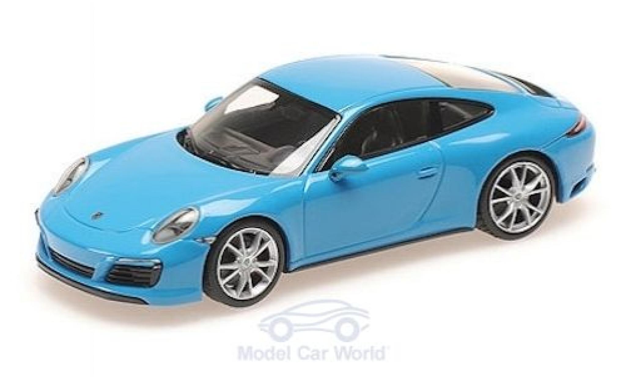 Porsche 911 1/43 Minichamps (991.2) Carrera 4S blue 2016