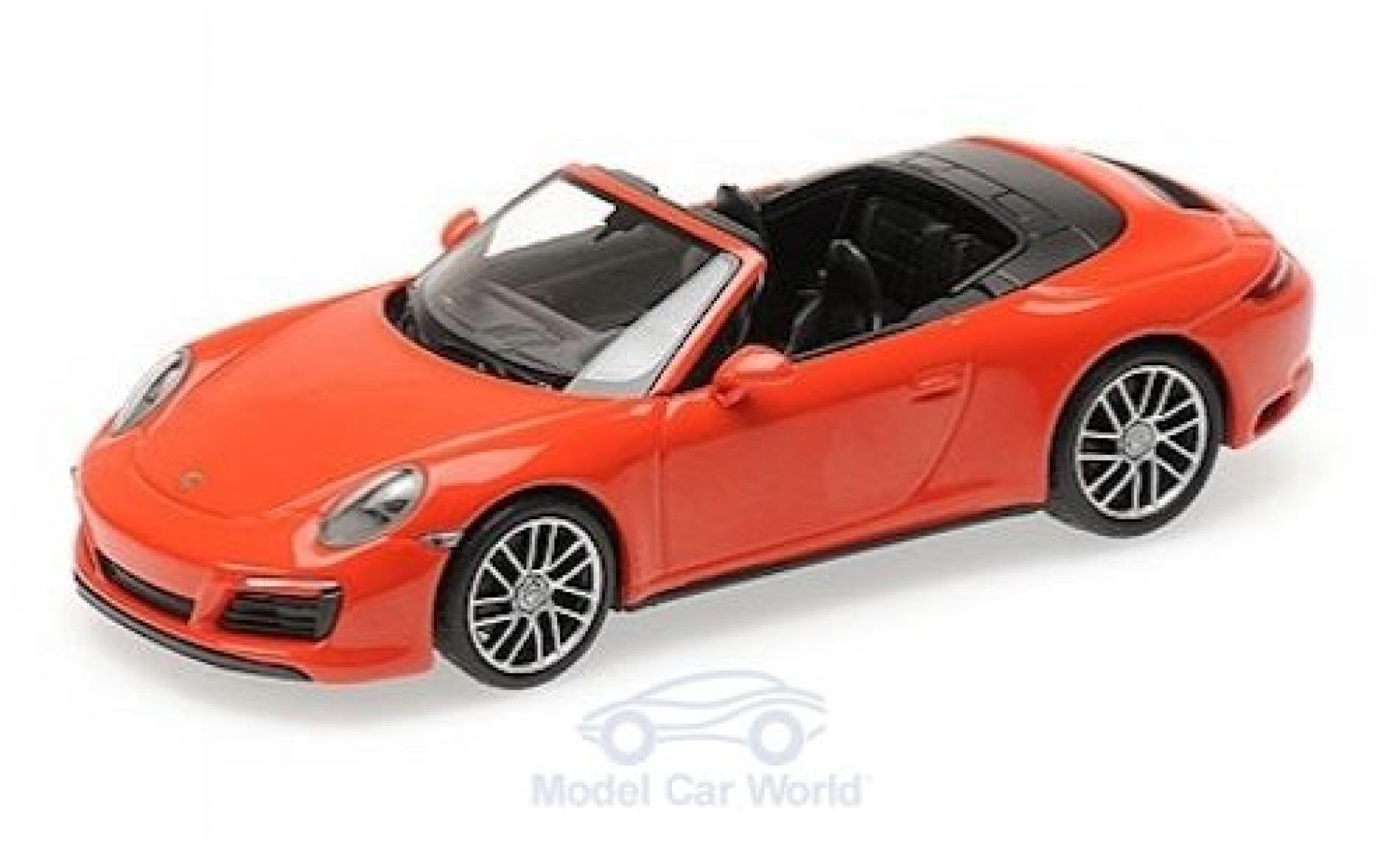 Porsche 911 1/43 Minichamps (991.2) Carrera 4S Cabriolet orange 2016
