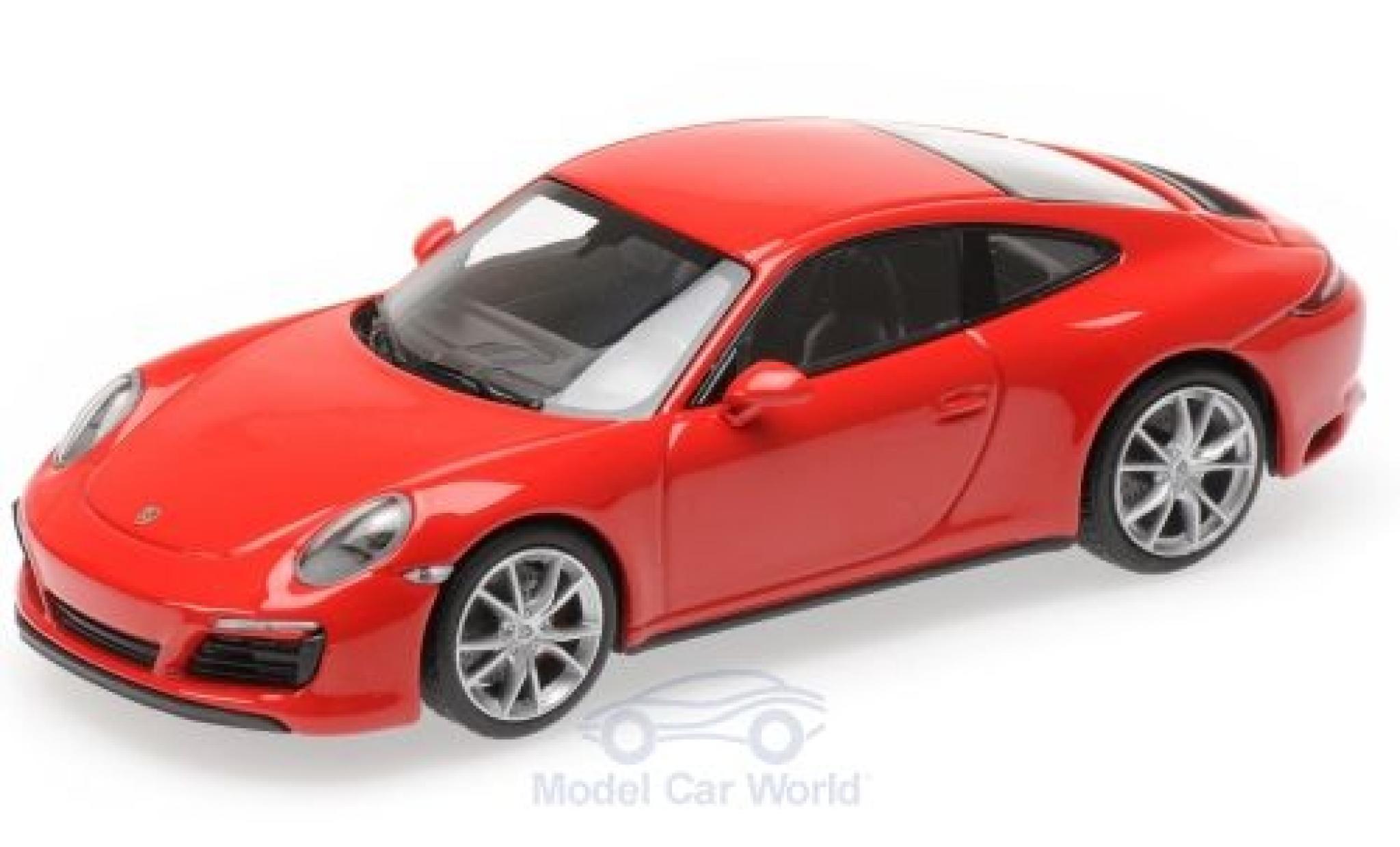 Porsche 991 4S 1/43 Minichamps 911 (.2) Carrera rouge 2016