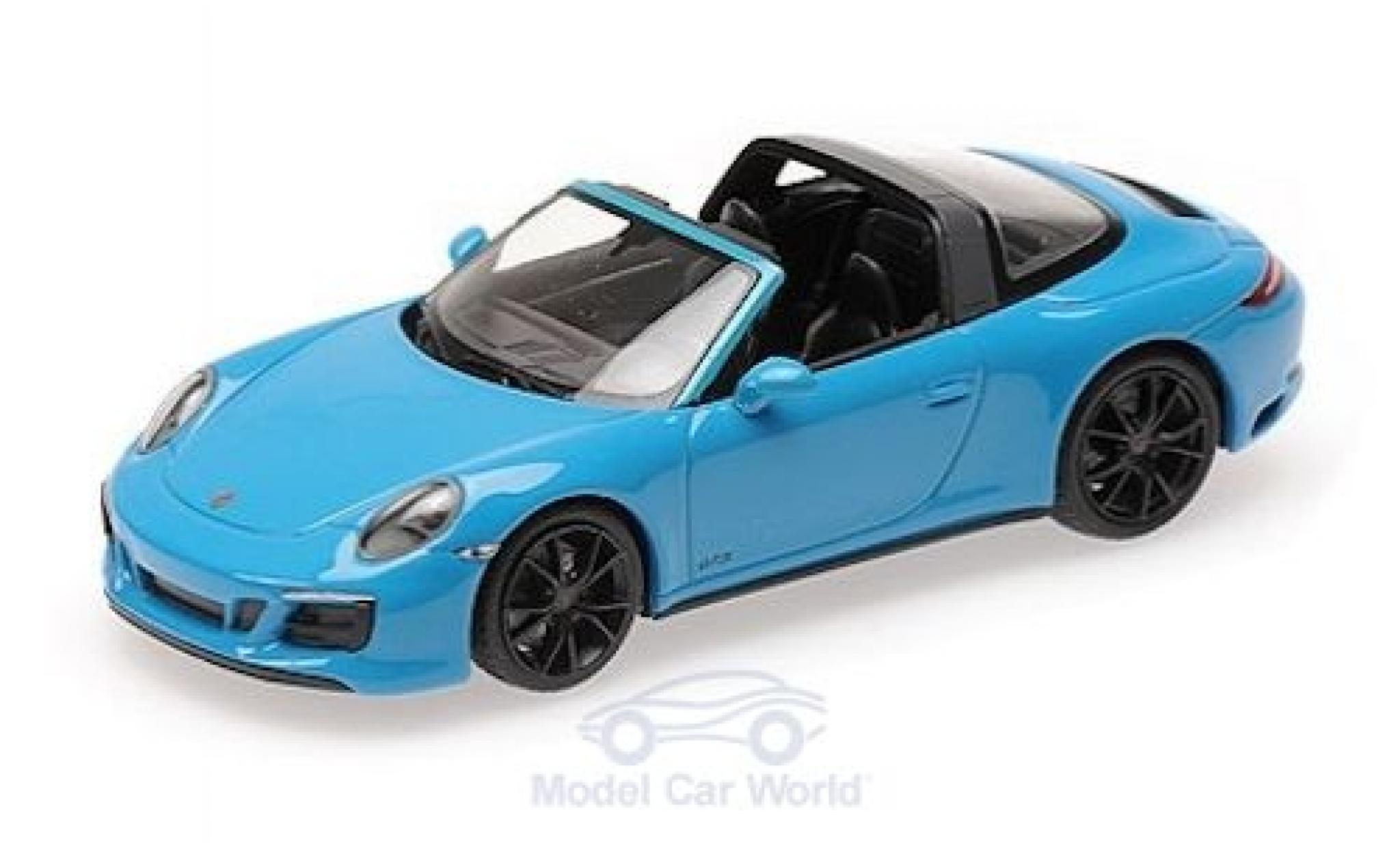 Porsche 991 Targa 1/43 Minichamps 911 (.2) 4 GTS bleue 2016
