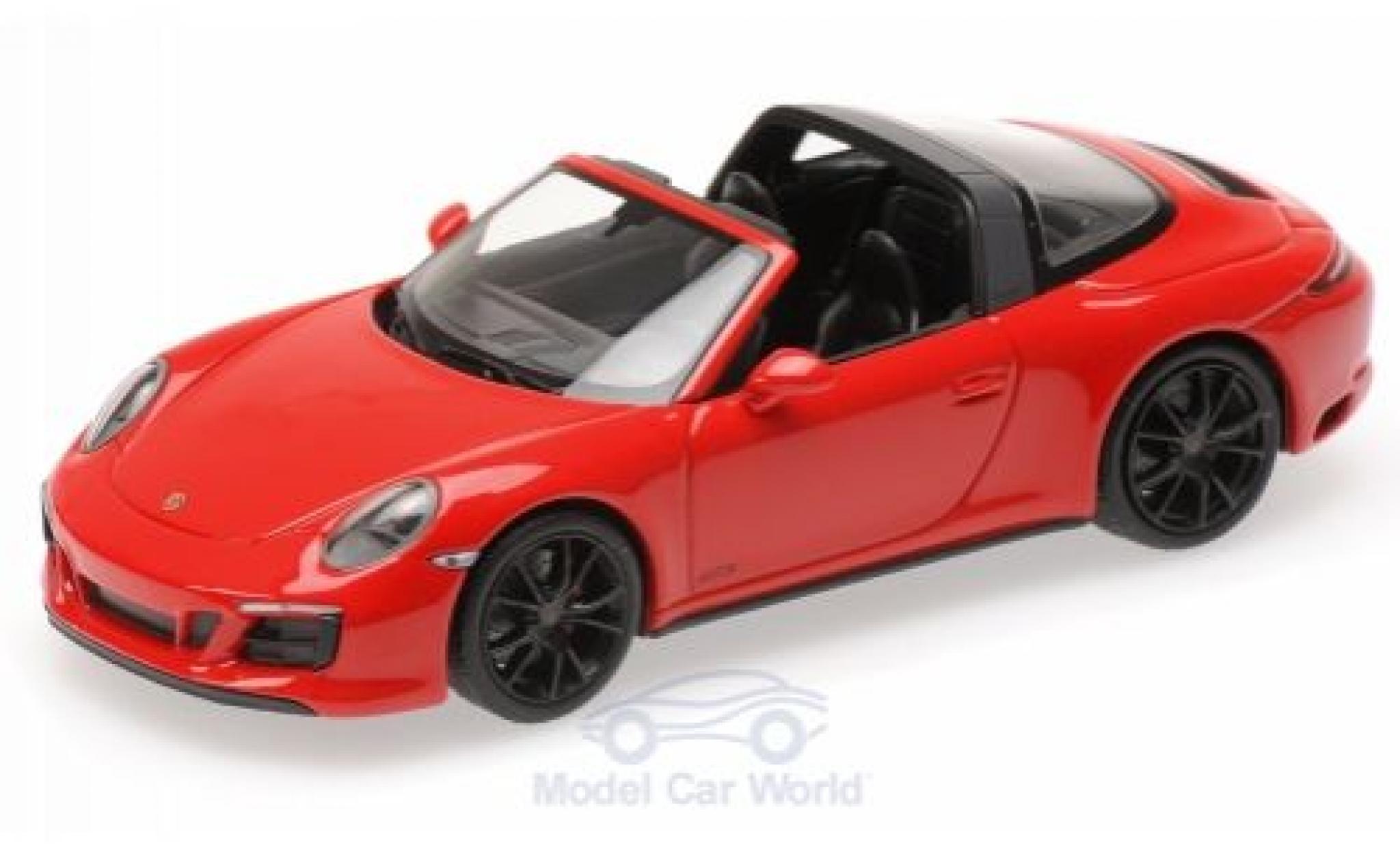 Porsche 991 Targa 1/43 Minichamps 911 (.2) 4 GTS rouge 2016