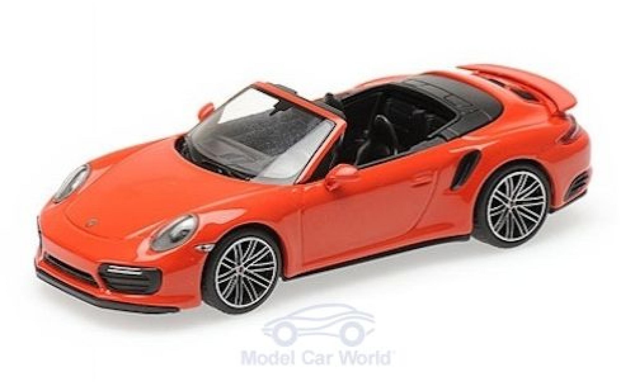 Porsche 911 1/43 Minichamps (991.2) Turbo S Cabriolet orange 2016
