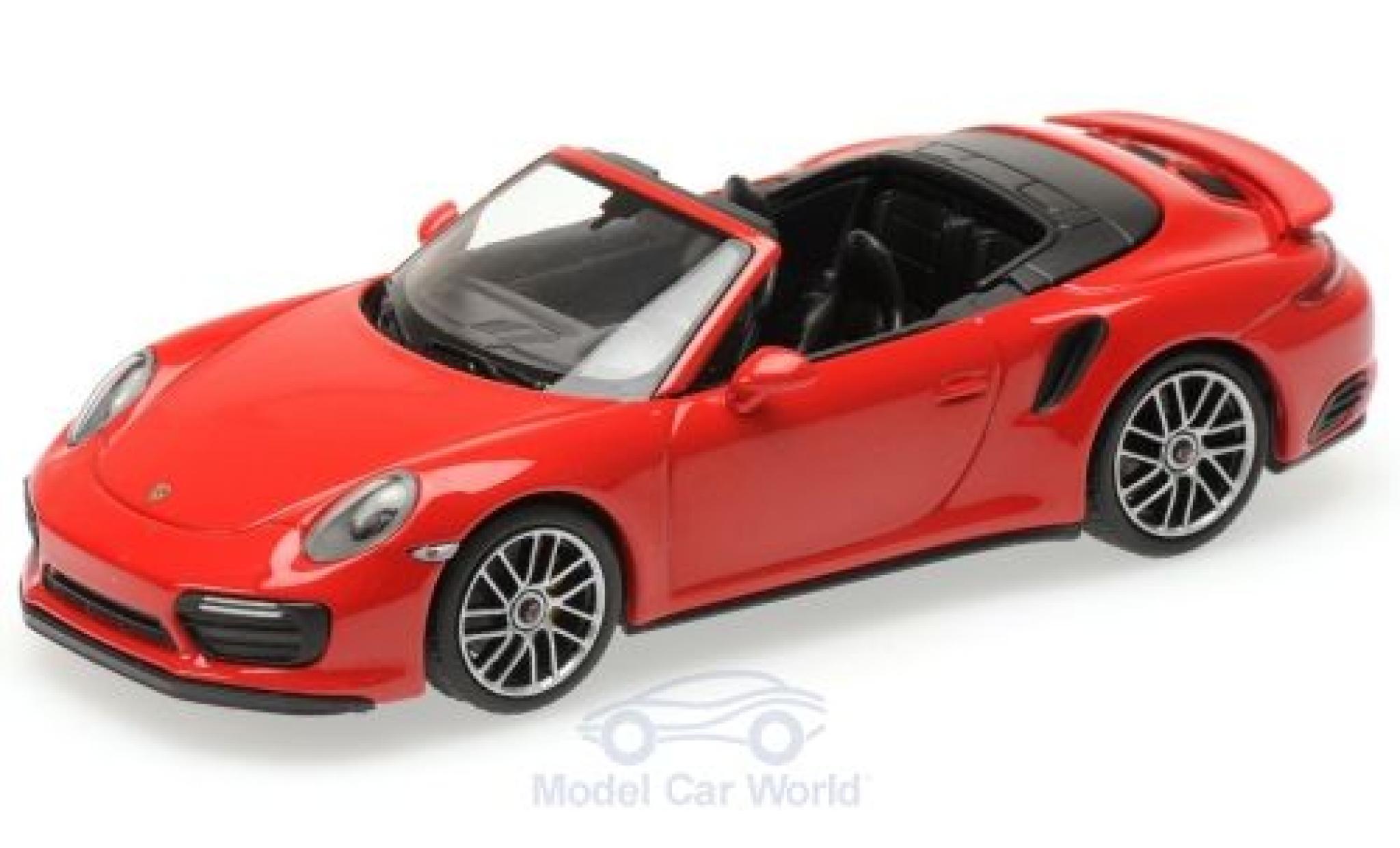 Porsche 911 1/43 Minichamps (991.2) Turbo S Cabriolet rouge 2016