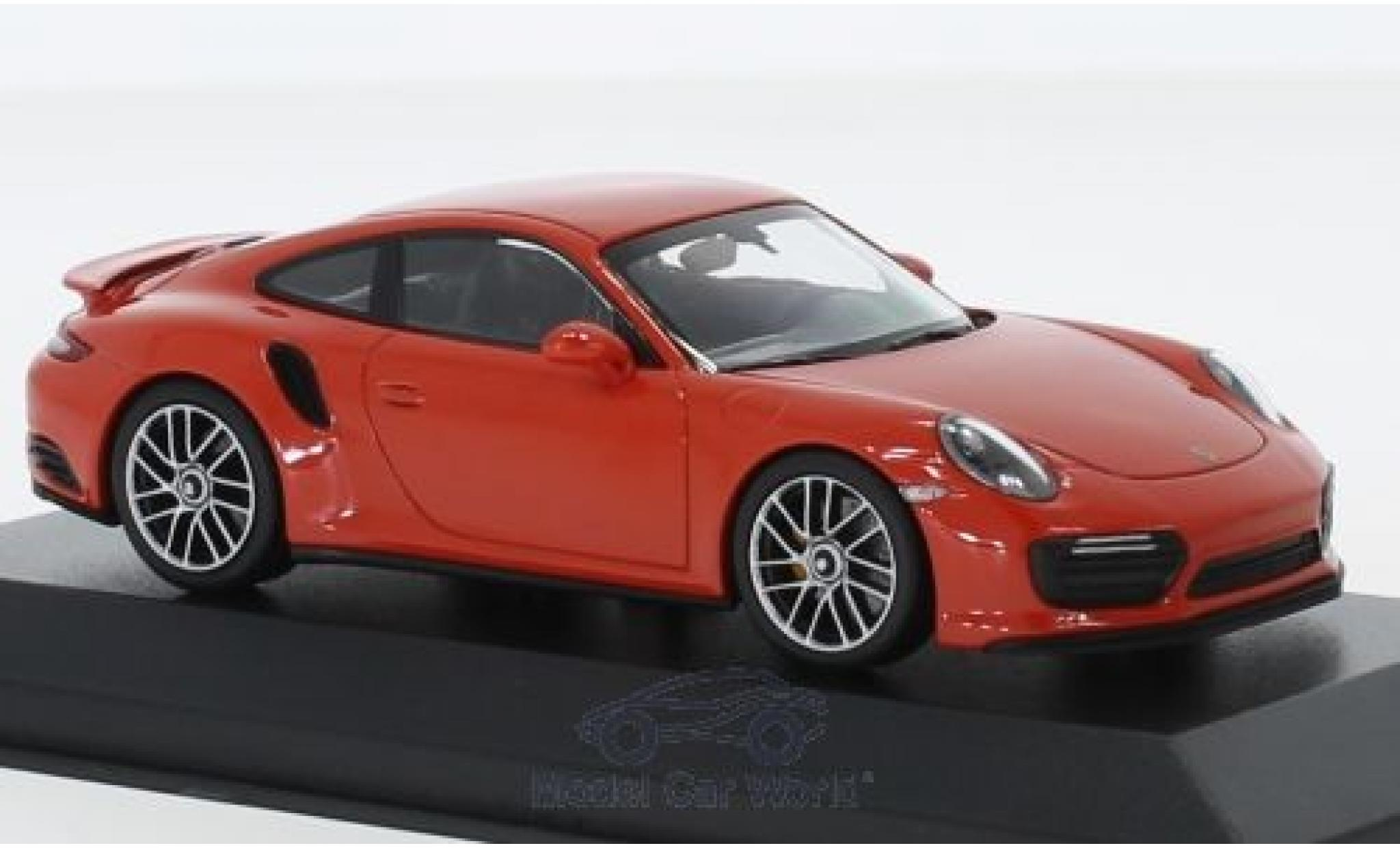 Porsche 911 1/43 Minichamps (991.2) Turbo S orange 2017