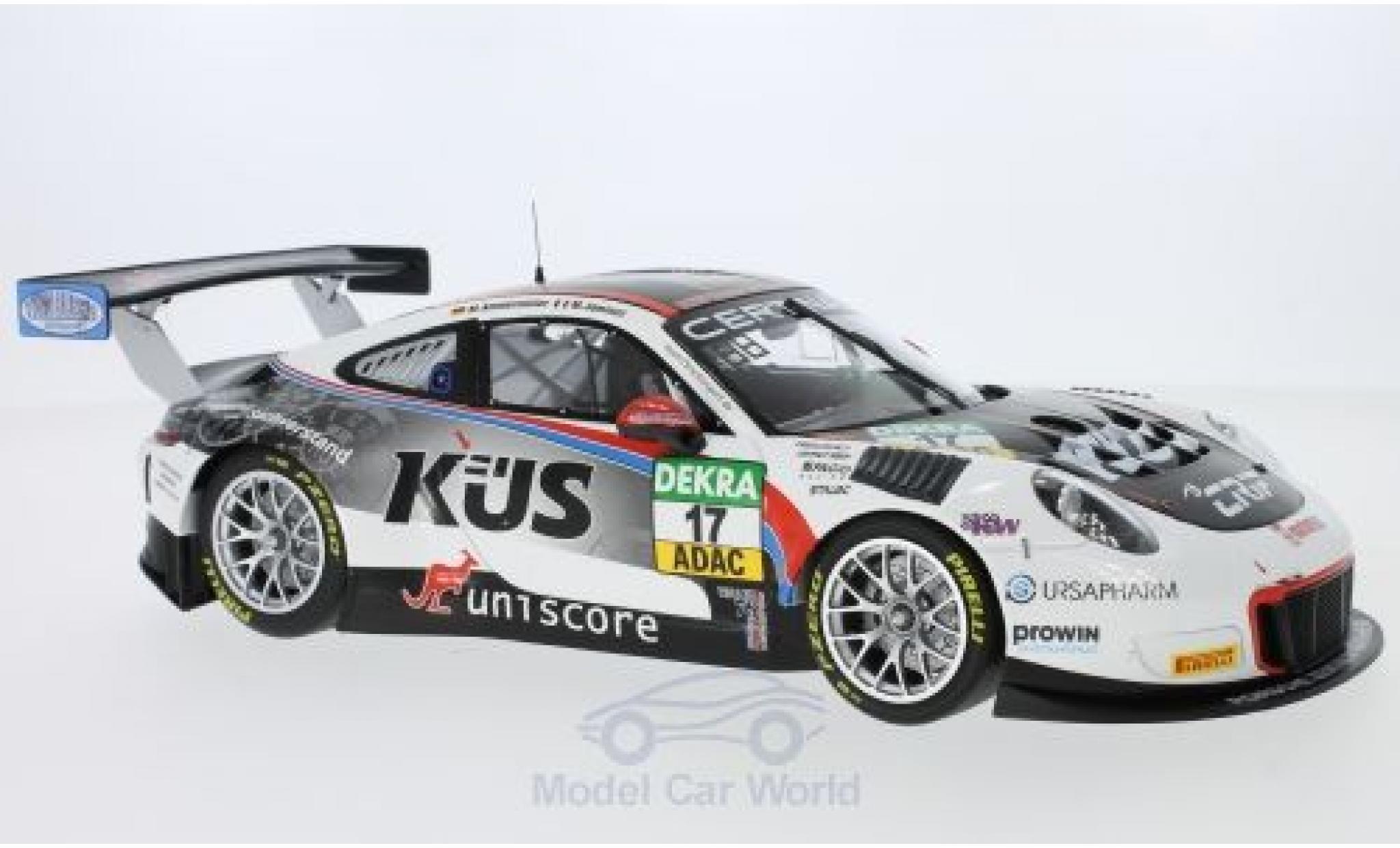 Porsche 991 GT3 R 1/18 Minichamps 911  No.17 Küs Team 75 Bernhard ADAC GT Masters Oschersleben 2017 M.Ammermüller /M.Jaminet