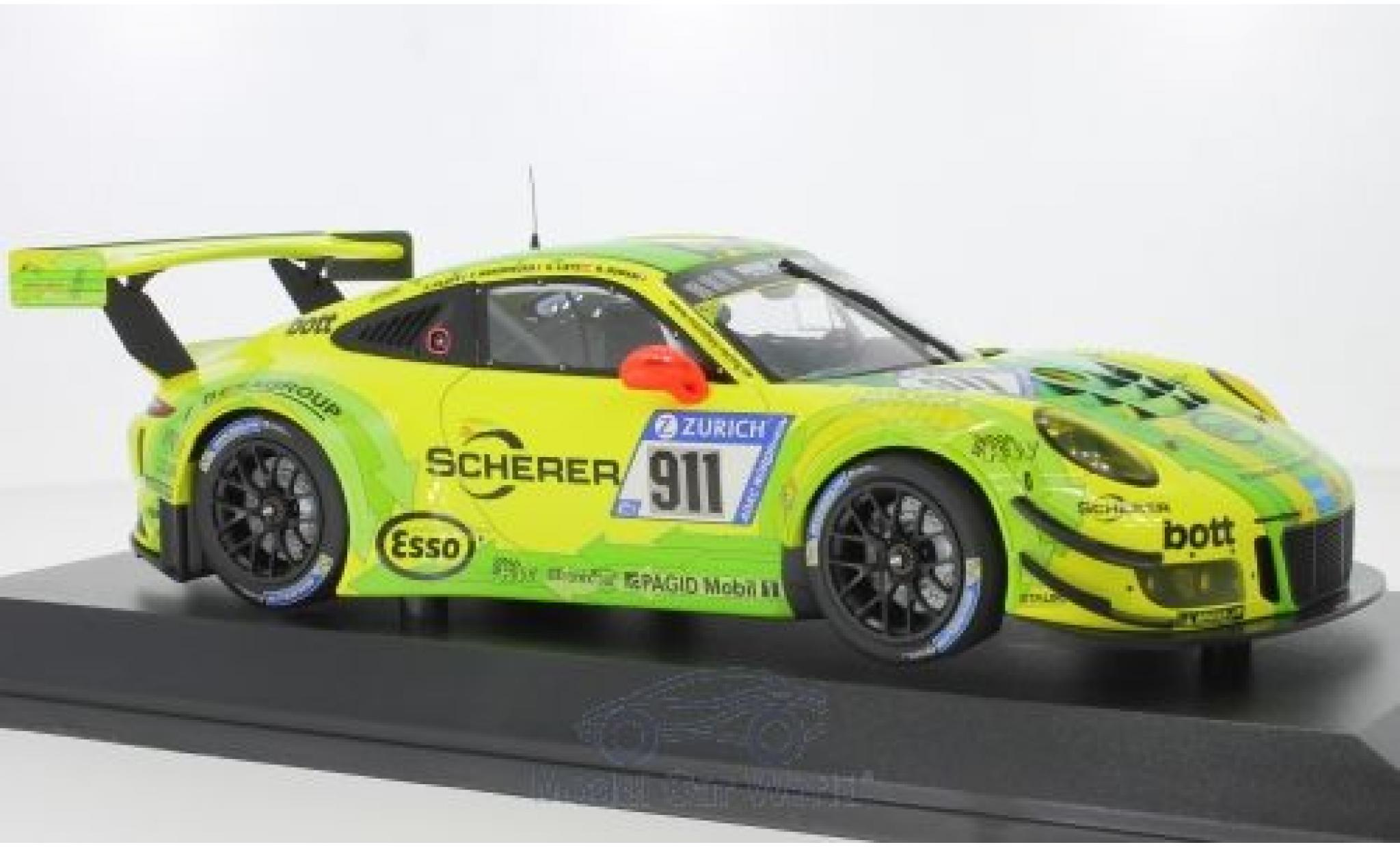 Porsche 911 1/18 Minichamps (991) GT3 R No. Manthey Racing 24h Nürburgring 2017 R.Dumas/F.Makowiecki/P.Pilet/R.Lietz