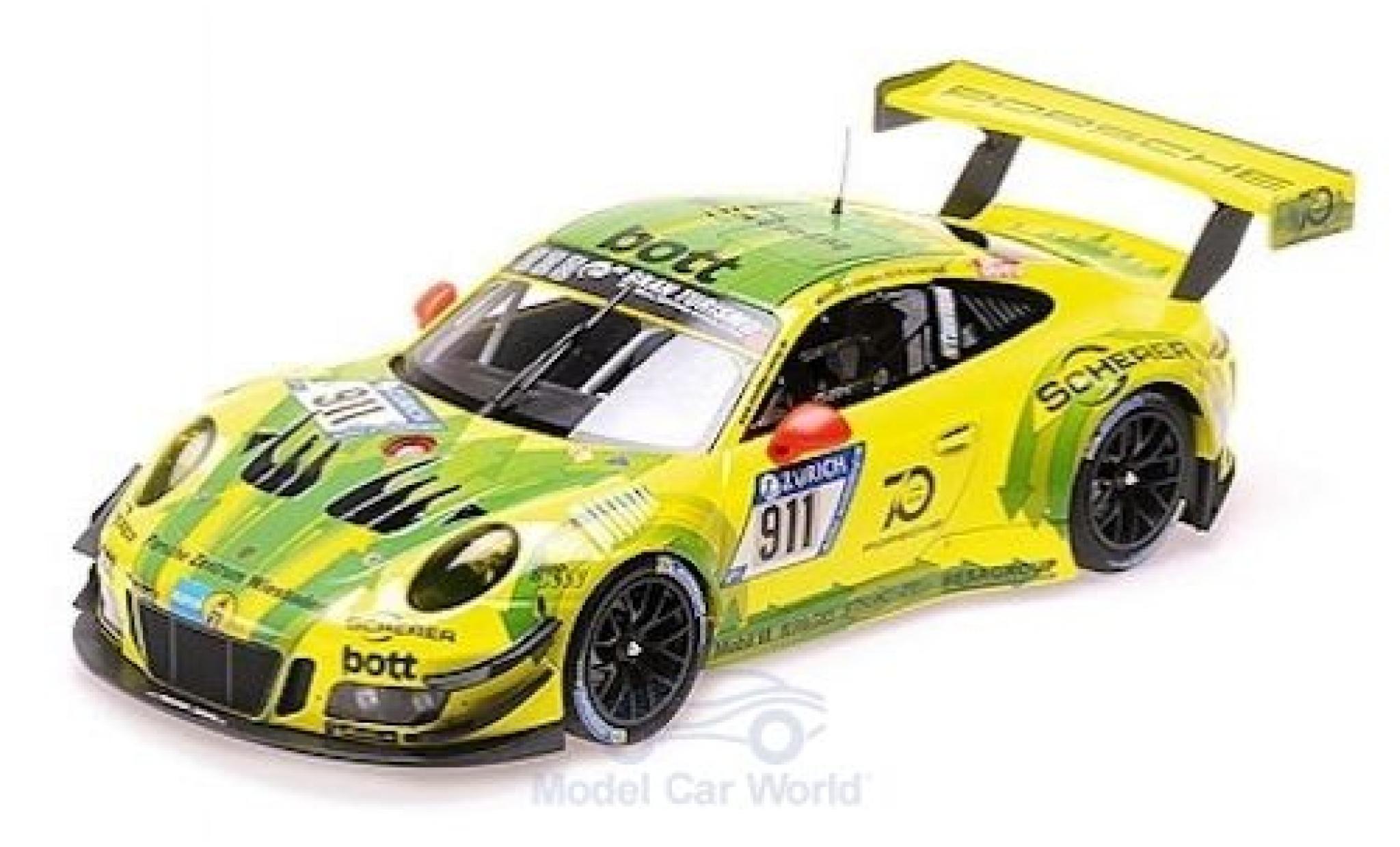 Porsche 991 GT3 R 1/18 Minichamps 911  No.911 Manthey Racing 24h Nürburgring 2018 K.Estre/R.Dumas/L.Vanthoor/E.Bamber