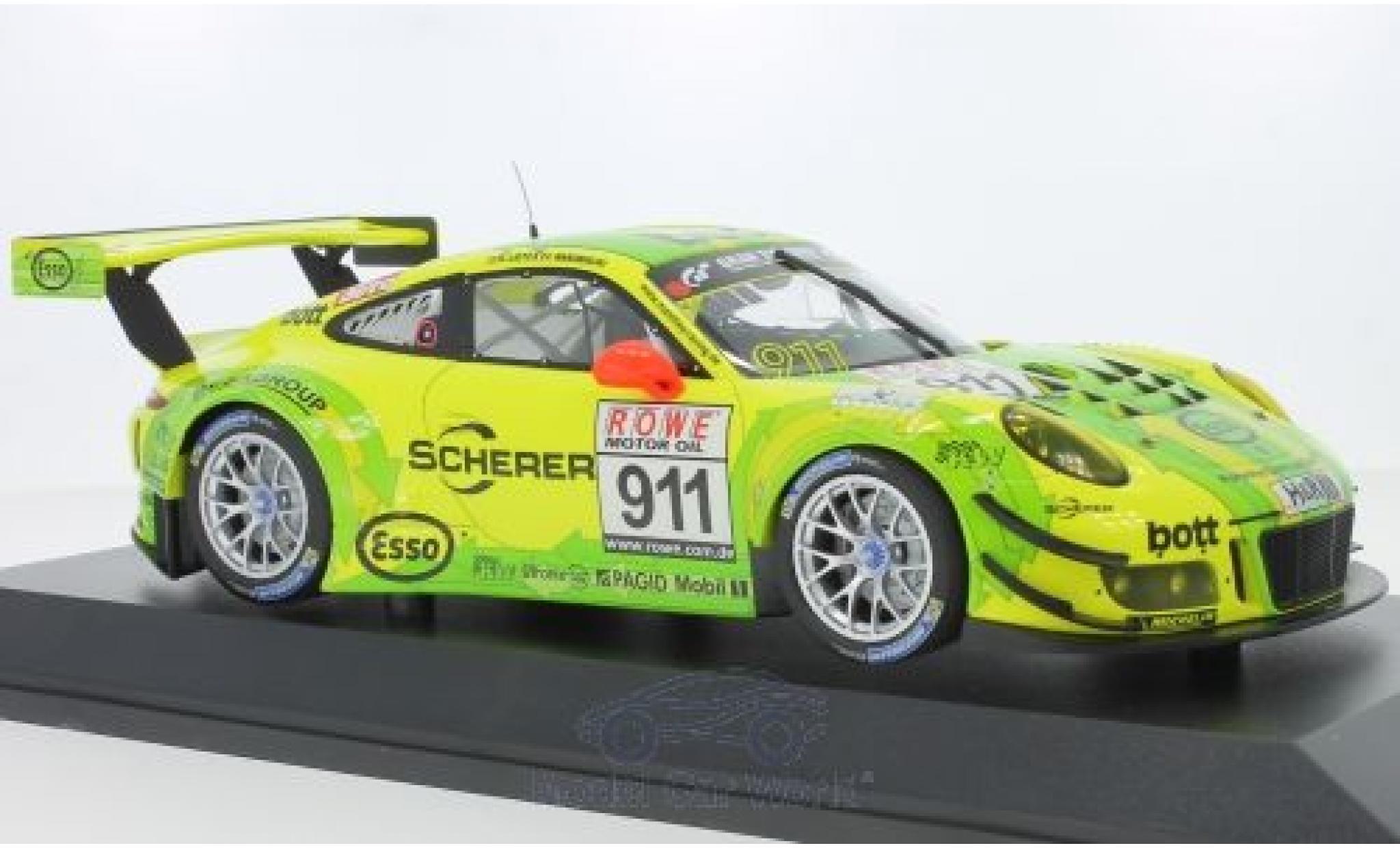 Porsche 991 GT3 R 1/18 Minichamps 911  No.911 Manthey Racing VLN DMV 4h 2017 F.Makowiecki/R.Lietz