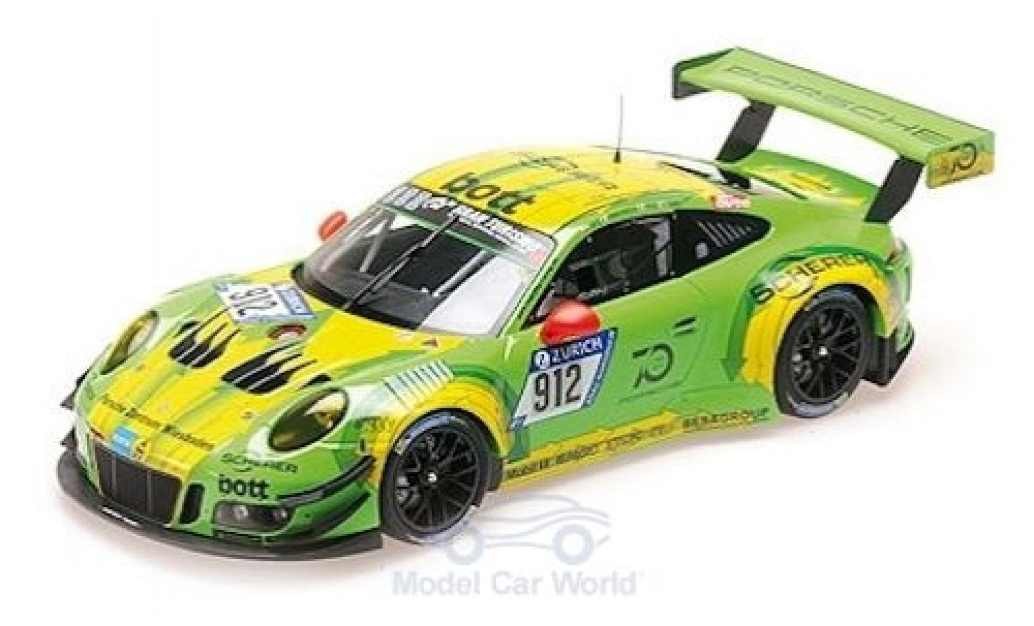 Porsche 991 GT3 R 1/18 Minichamps 911  No.912 Manthey Racing 24h Nürburgring 2018 R.Lietz/P.Pilet/F.Makowiecki/N.Tandy