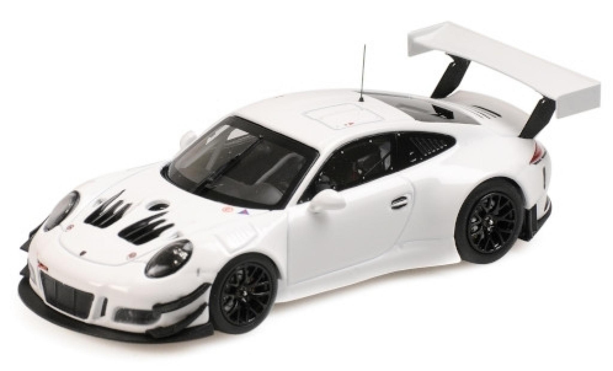 Porsche 991 GT3 R 1/43 Minichamps 911  white 2018 Plain Body Version