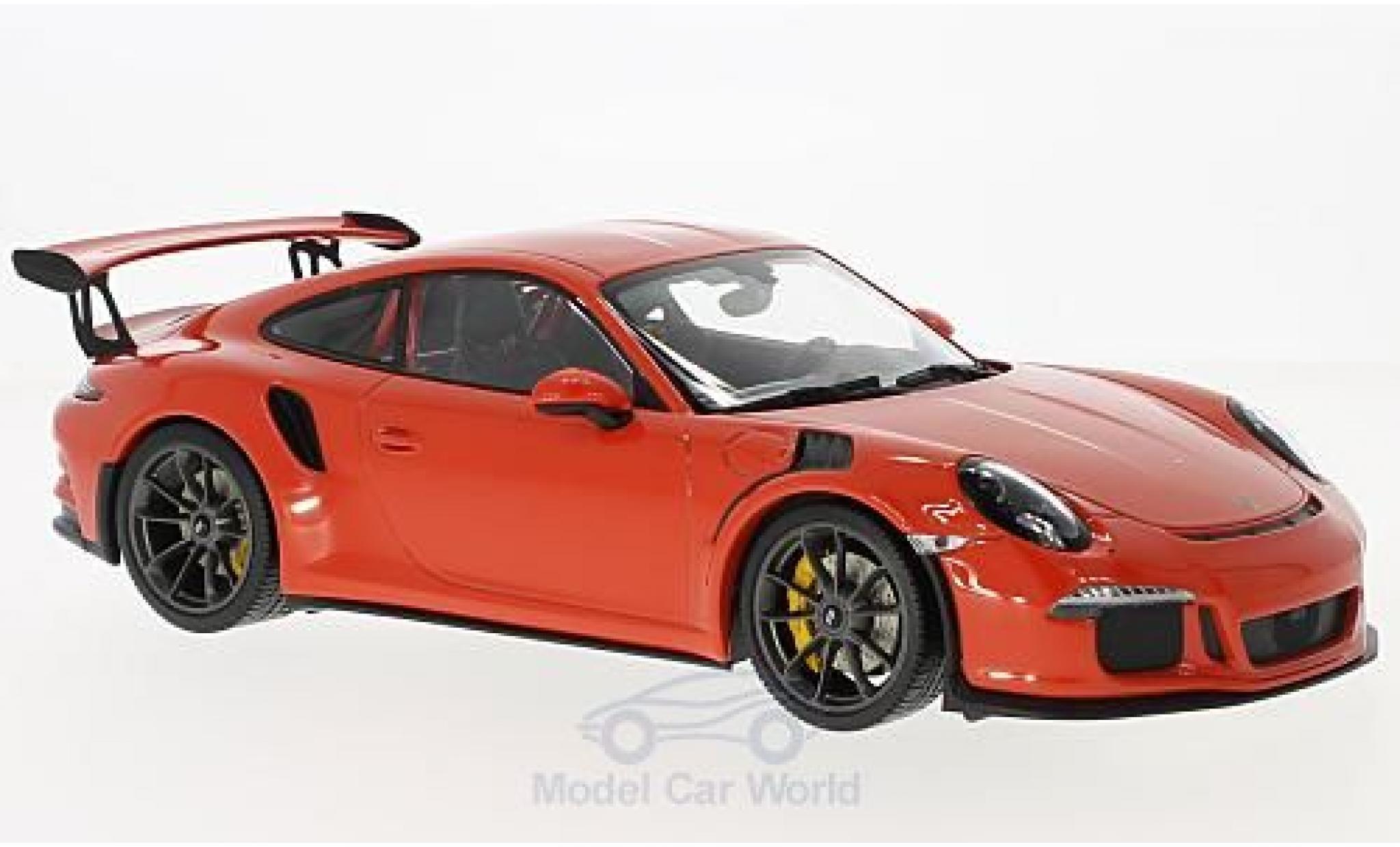 Porsche 991 GT3 RS 1/18 Minichamps 911  orange 2015