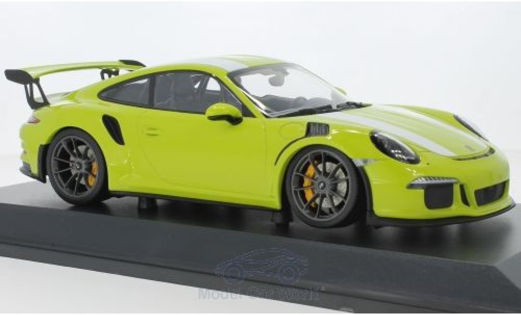 Porsche 991 GT3 RS 1/18 Minichamps 911  verte/blanche 2015
