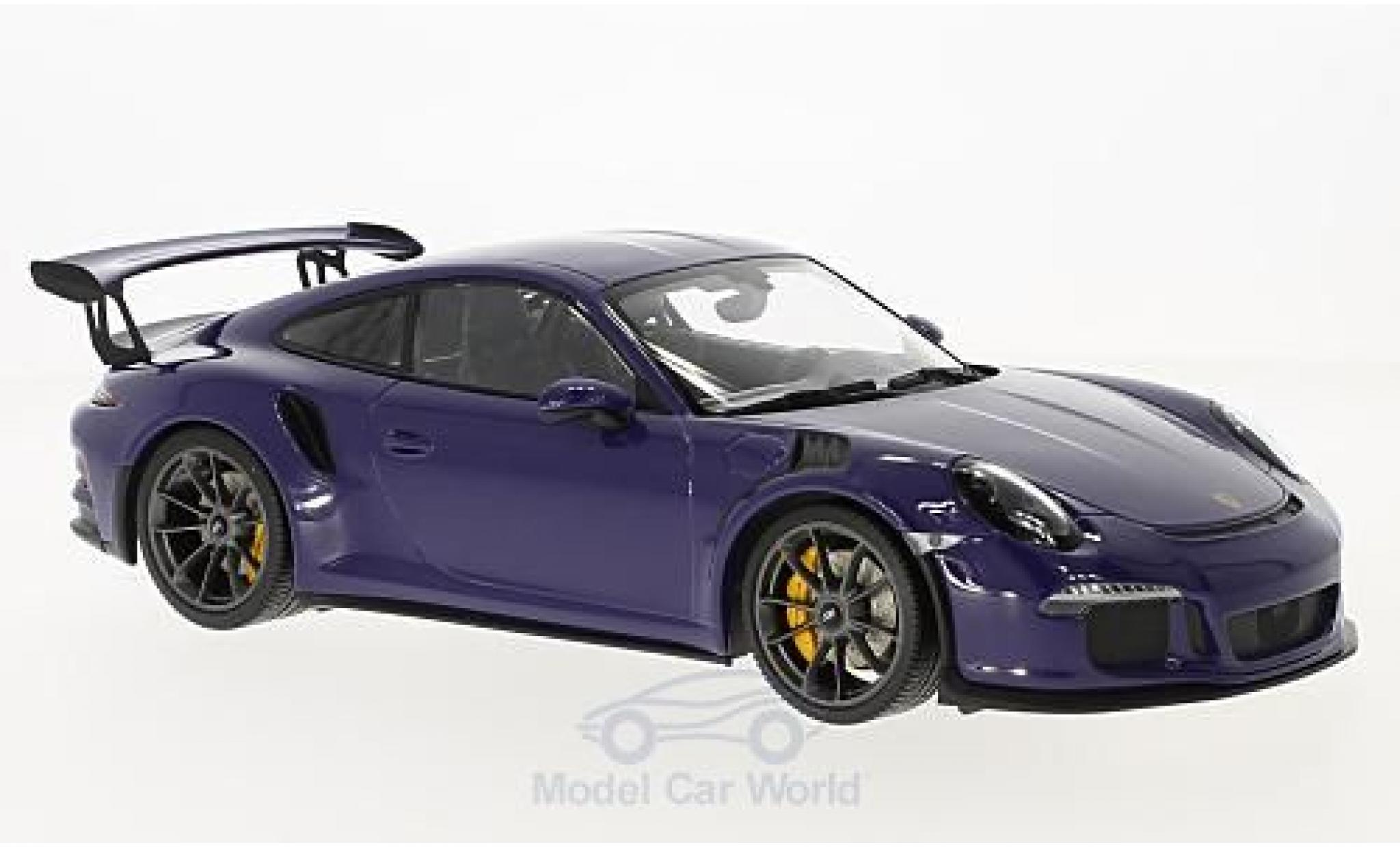 Porsche 991 GT3 RS 1/18 Minichamps 911  purple 2015