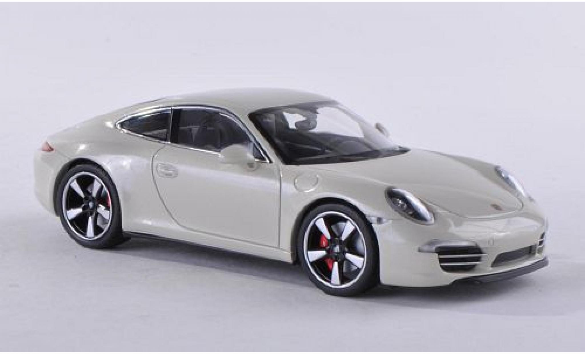 Porsche 991 1/43 Minichamps 911  metallise white 2013 50 années