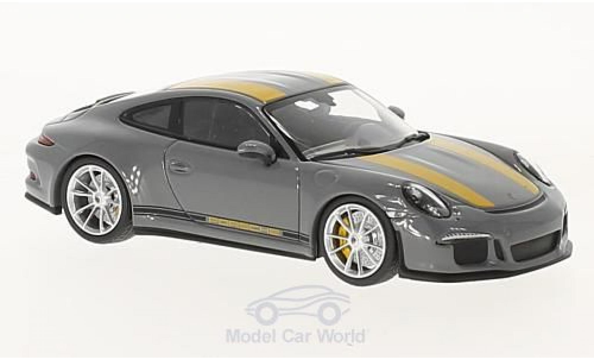 Porsche 991 R 1/43 Minichamps 911  grey/yellow 2016