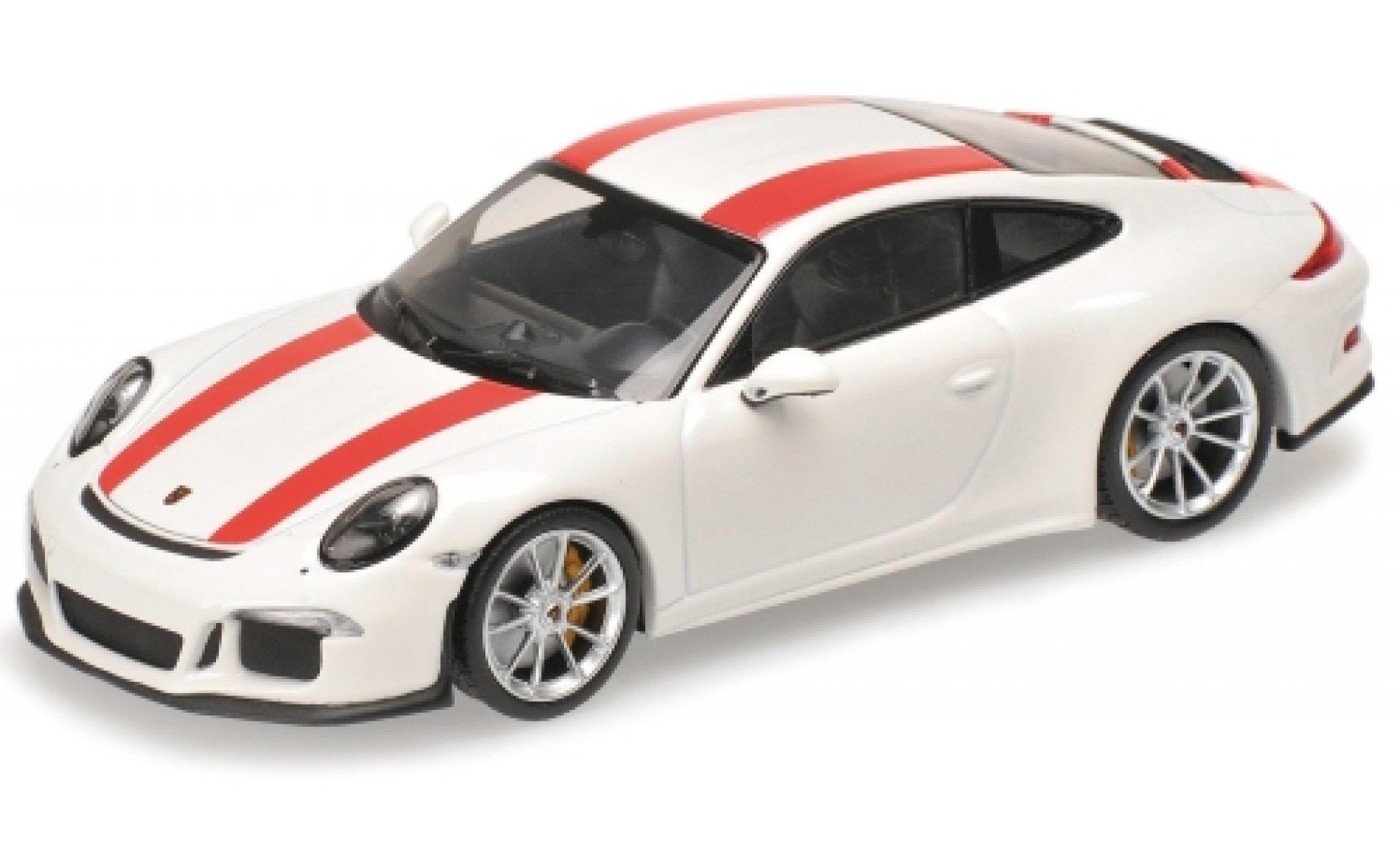 Porsche 911 1/12 Minichamps (991) R blanche/rouge 2016
