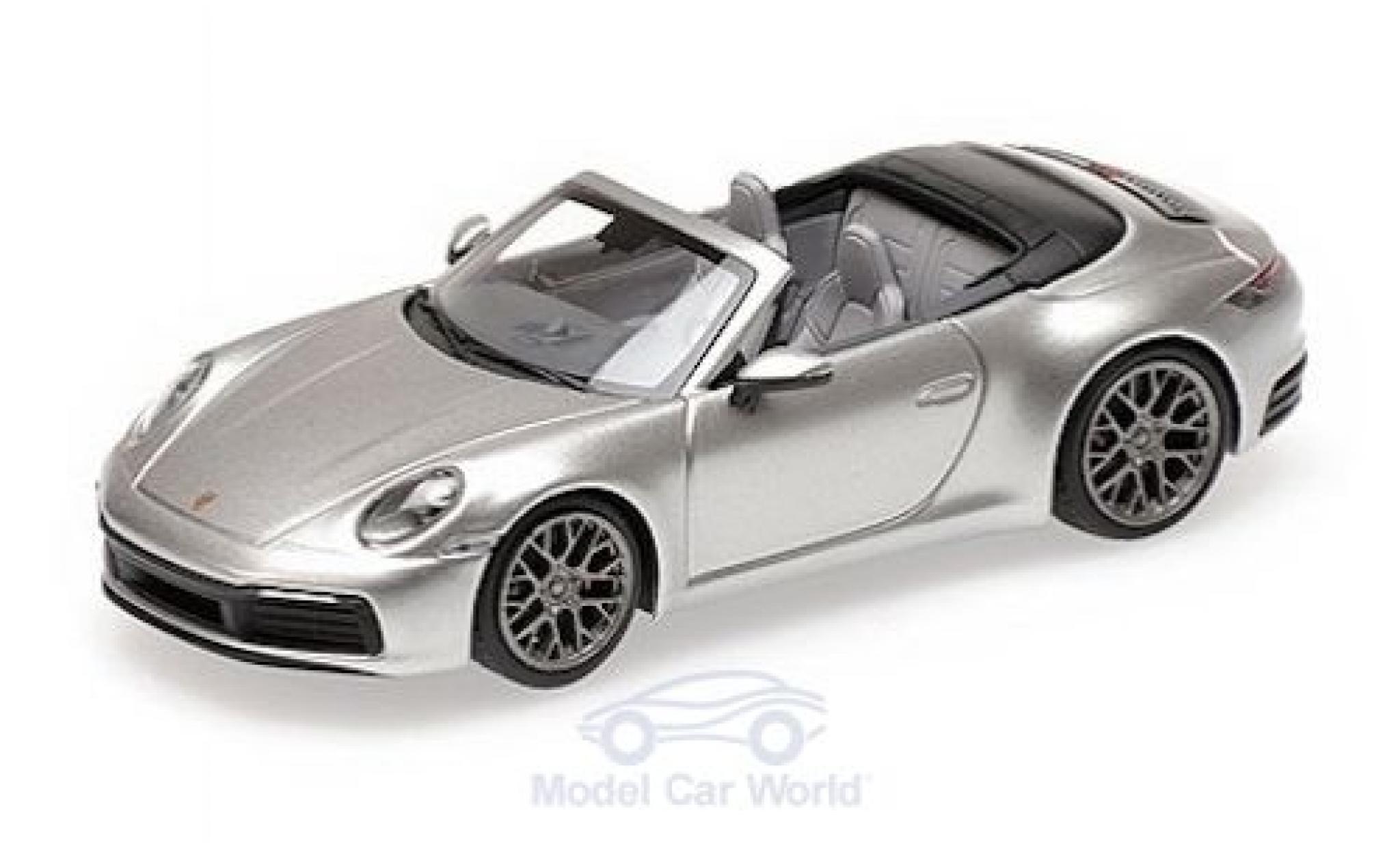 Porsche 911 1/43 Minichamps (992) Carrera 4S Cabriolet grise 2019