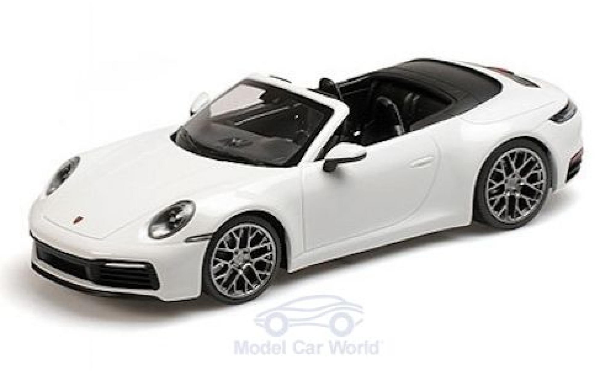 Porsche 992 4S 1/18 Minichamps 911  Carrera Cabriolet white 2019