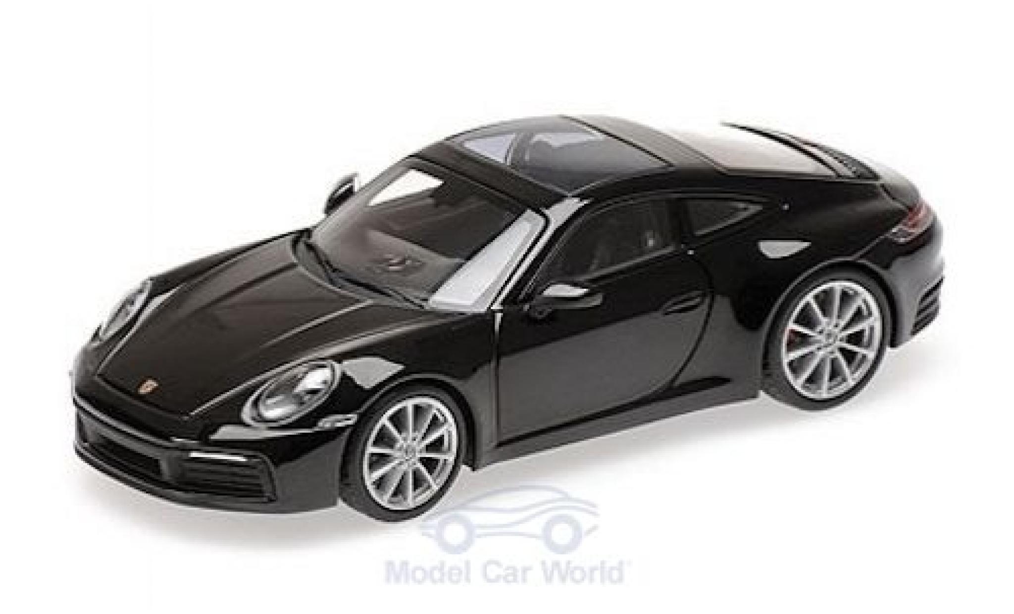 Porsche 911 1/43 Minichamps (992) Carrera 4S métallisé noire 2019