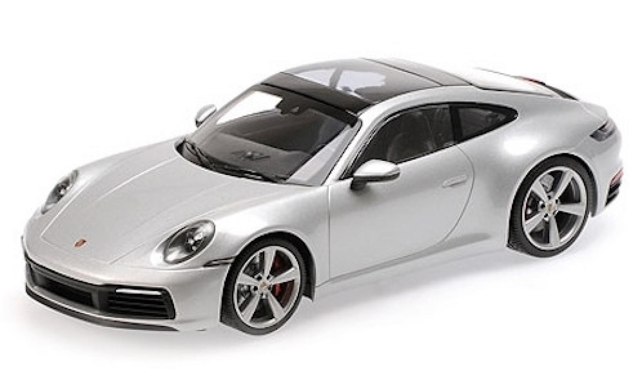 Porsche 911 1/18 Minichamps (992) Carrera 4S grise 2019