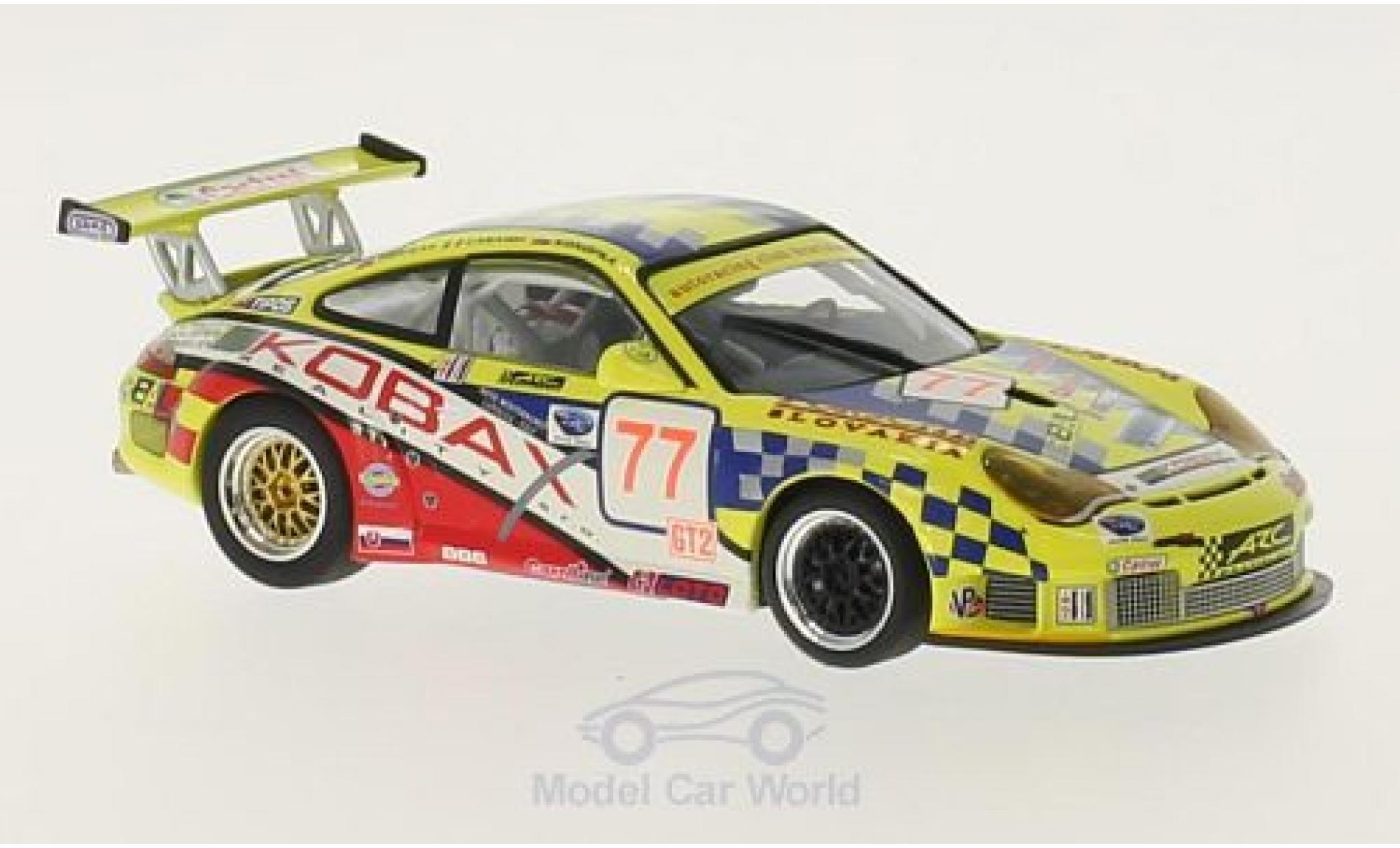 Porsche 997 GT3 RSR 1/43 Minichamps 911 (996) No.77 Autoracing Club Bratislava Kobax 12h Sebring 2008 M.Konopka/M.Casadei/M.Hornak