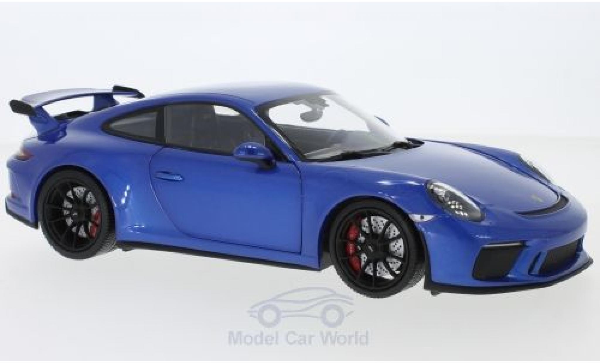 Porsche 991 GT3 1/18 Minichamps 911 (997.2) metallise bleue 2017